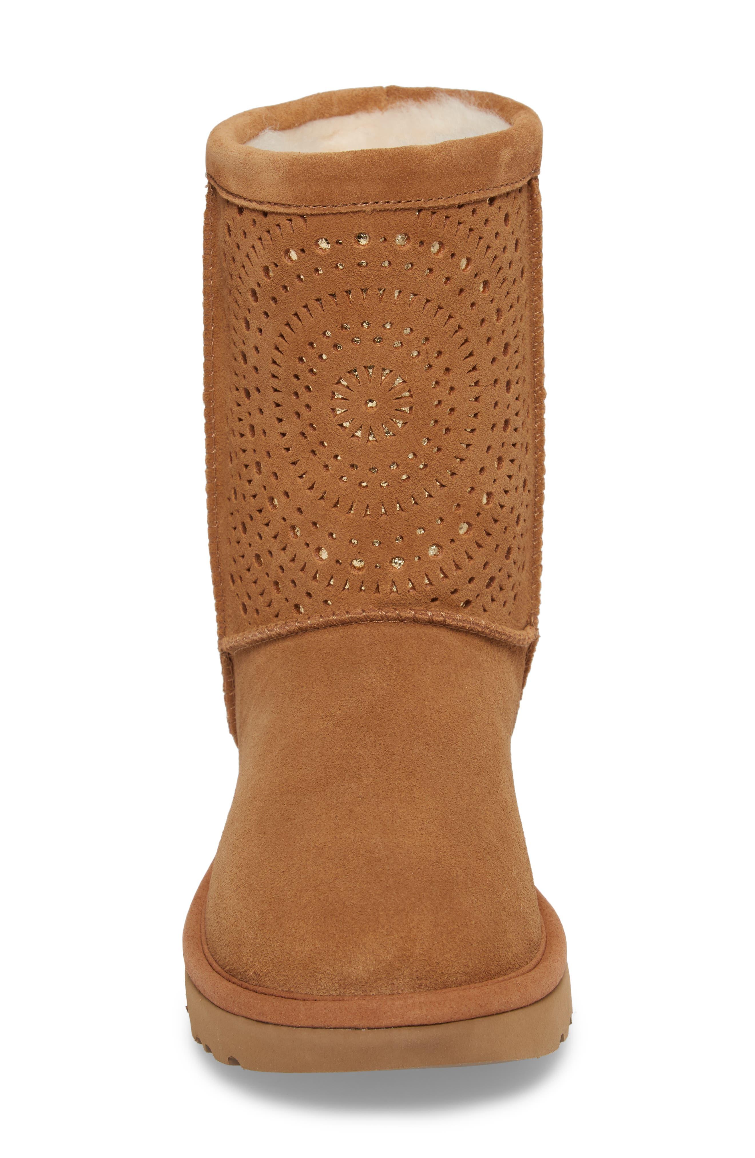 Alternate Image 4  - UGG® Classic Short Sunshine Perforated Boot (Women)