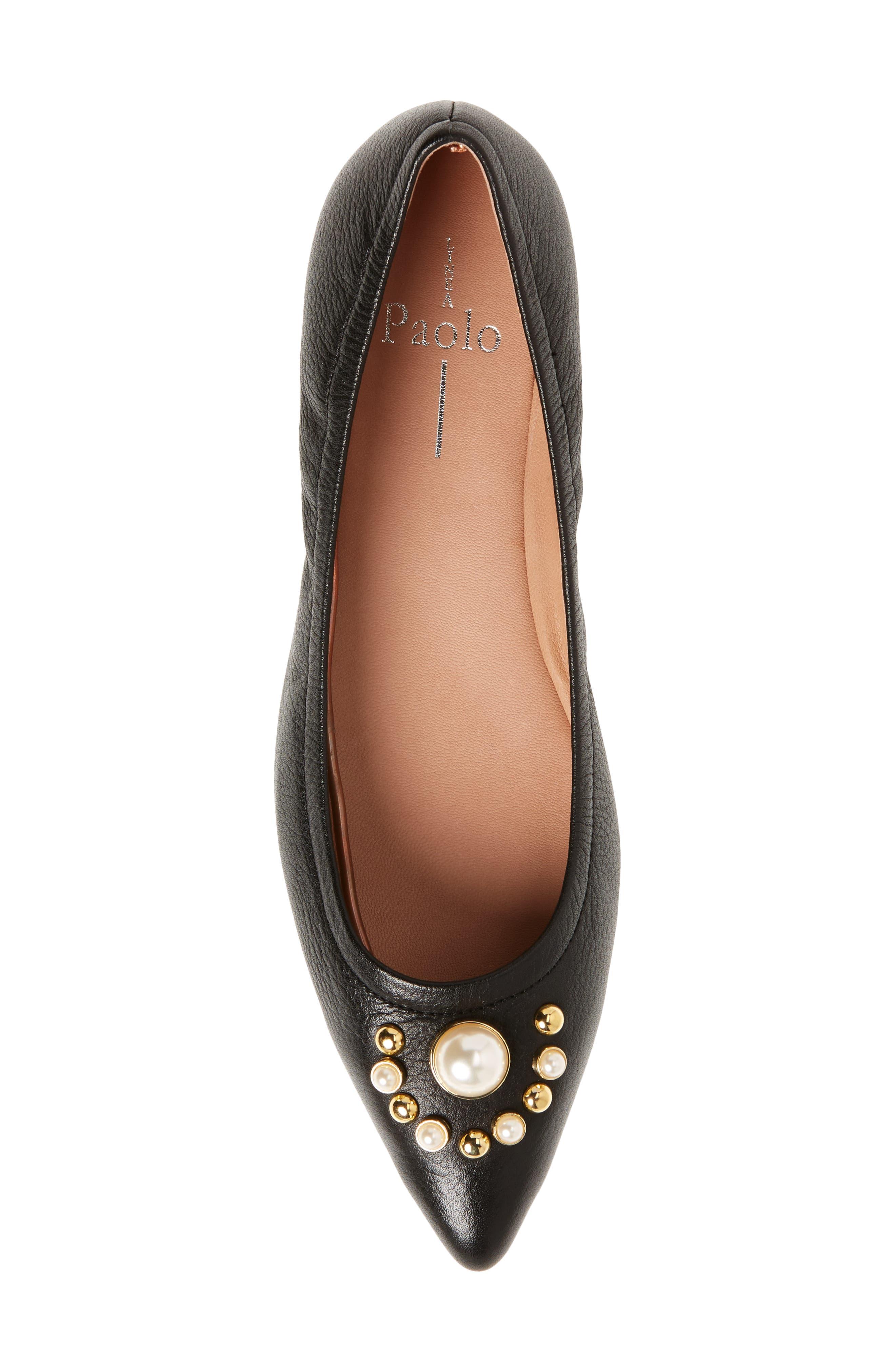 Alternate Image 5  - Linea Paolo Nadia Embellished Pointy Toe Flat (Women)