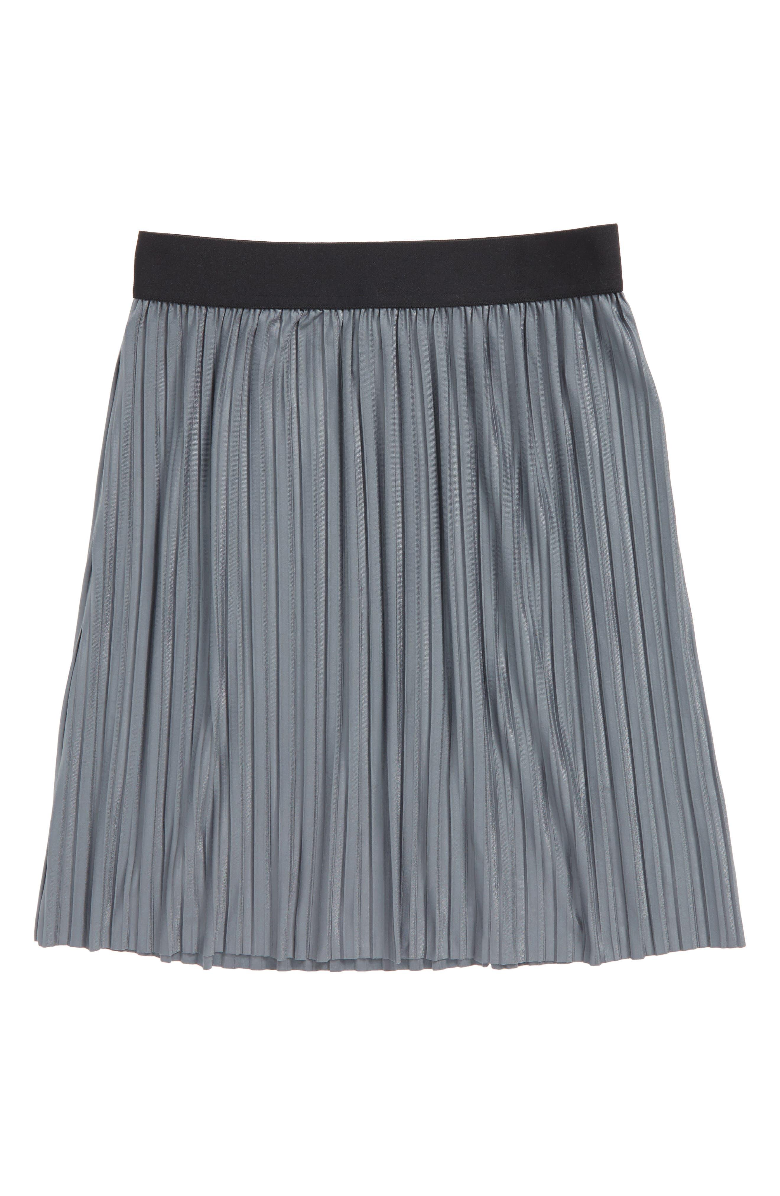 Pleated Skirt,                             Main thumbnail 1, color,                             Grey Castlerock