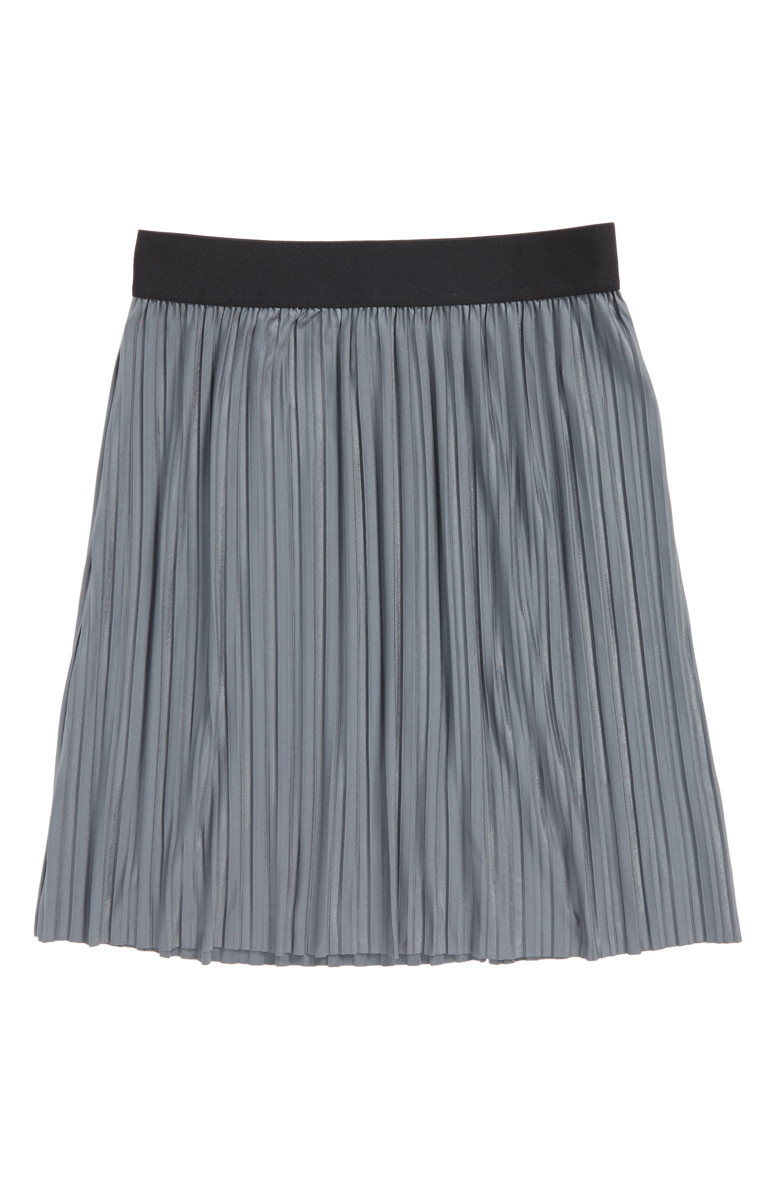 Pleated Skirt,                         Main,                         color, Grey Castlerock