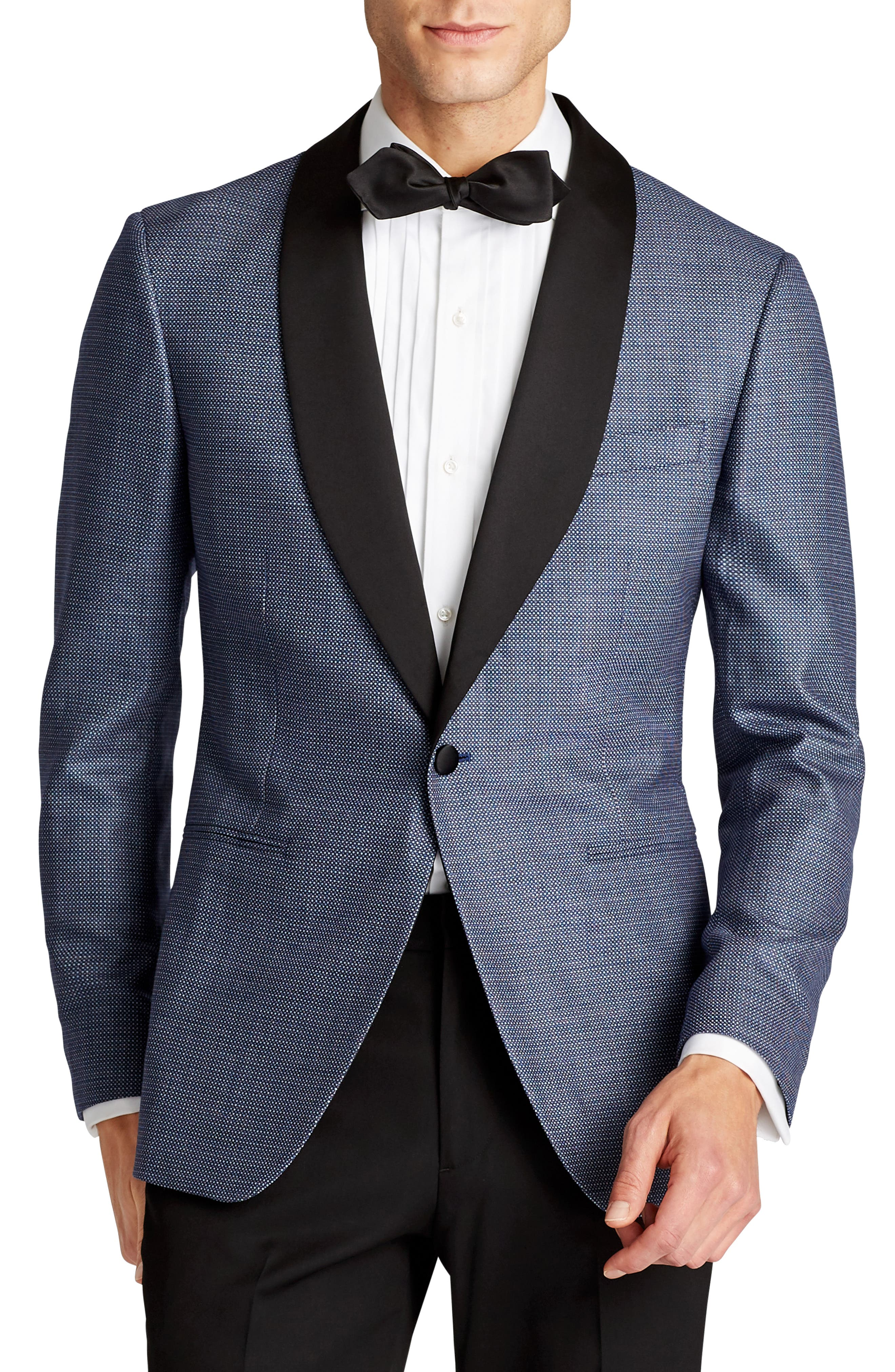 Capstone Slim Fit Wool Dinner Jacket,                         Main,                         color, Blue Dot