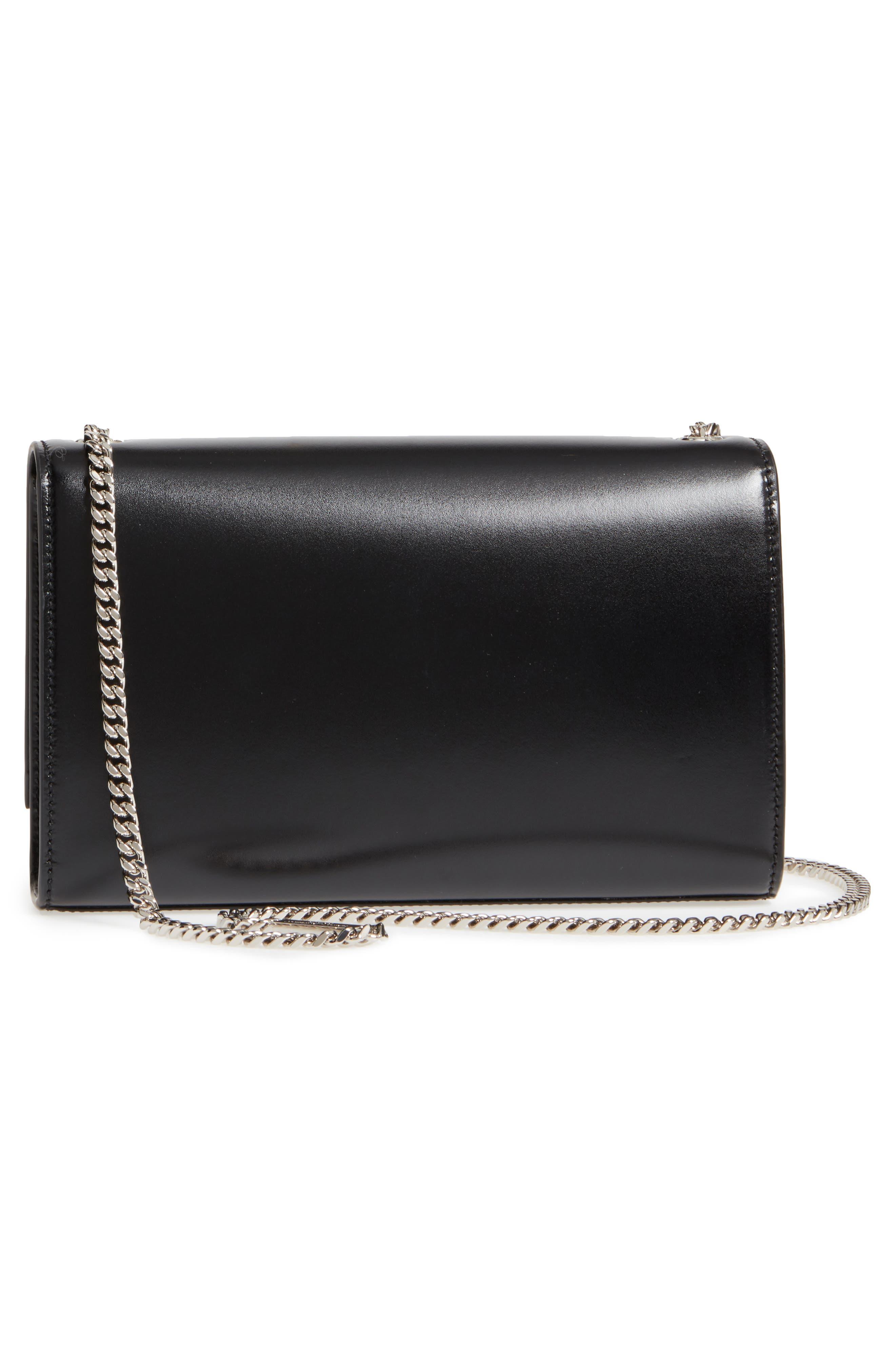 Medium Kate Calfskin Leather Crossbody Bag,                             Alternate thumbnail 3, color,                             Noir