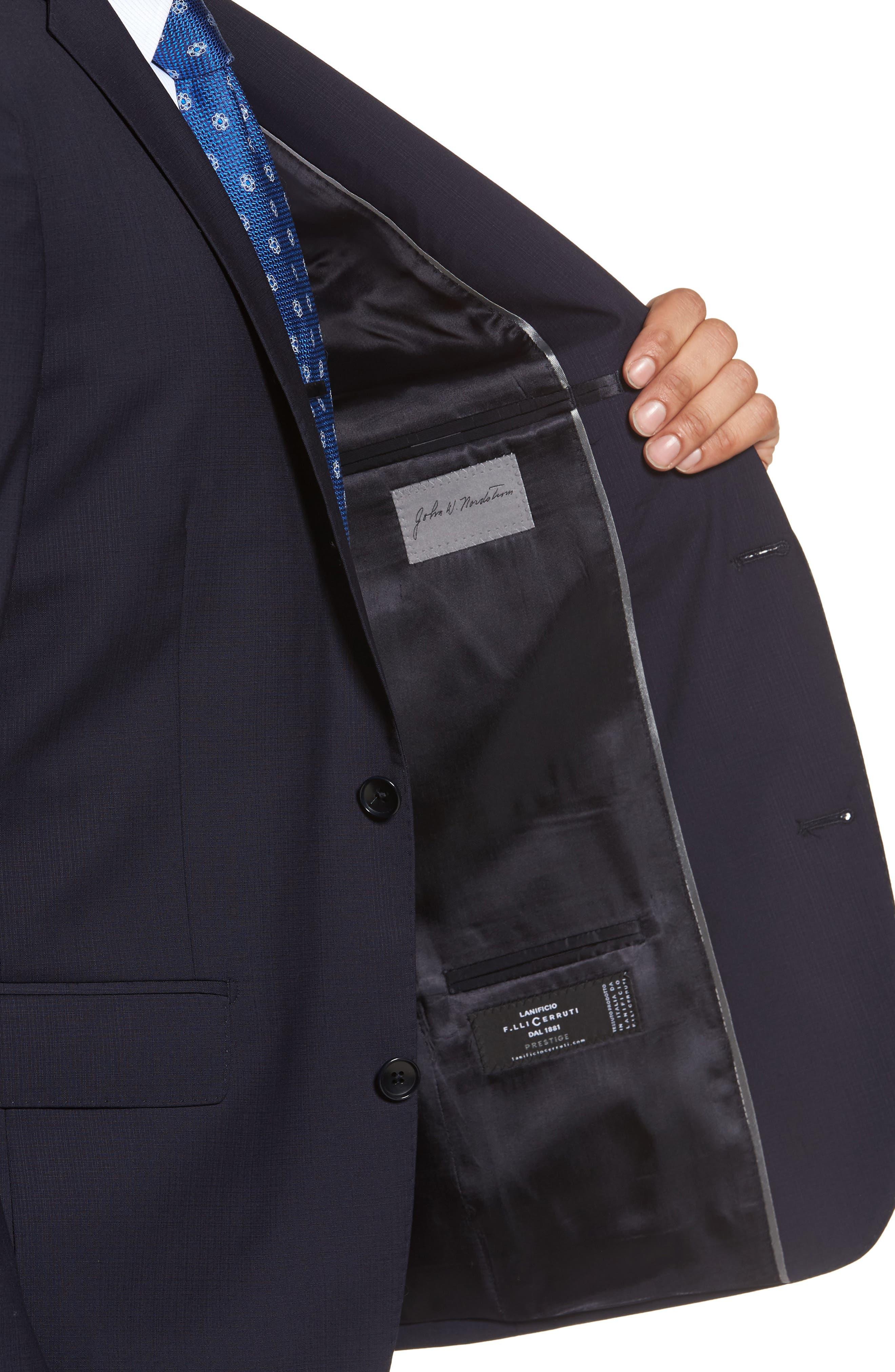 Classic Fit Check Suit,                             Alternate thumbnail 4, color,                             Navy