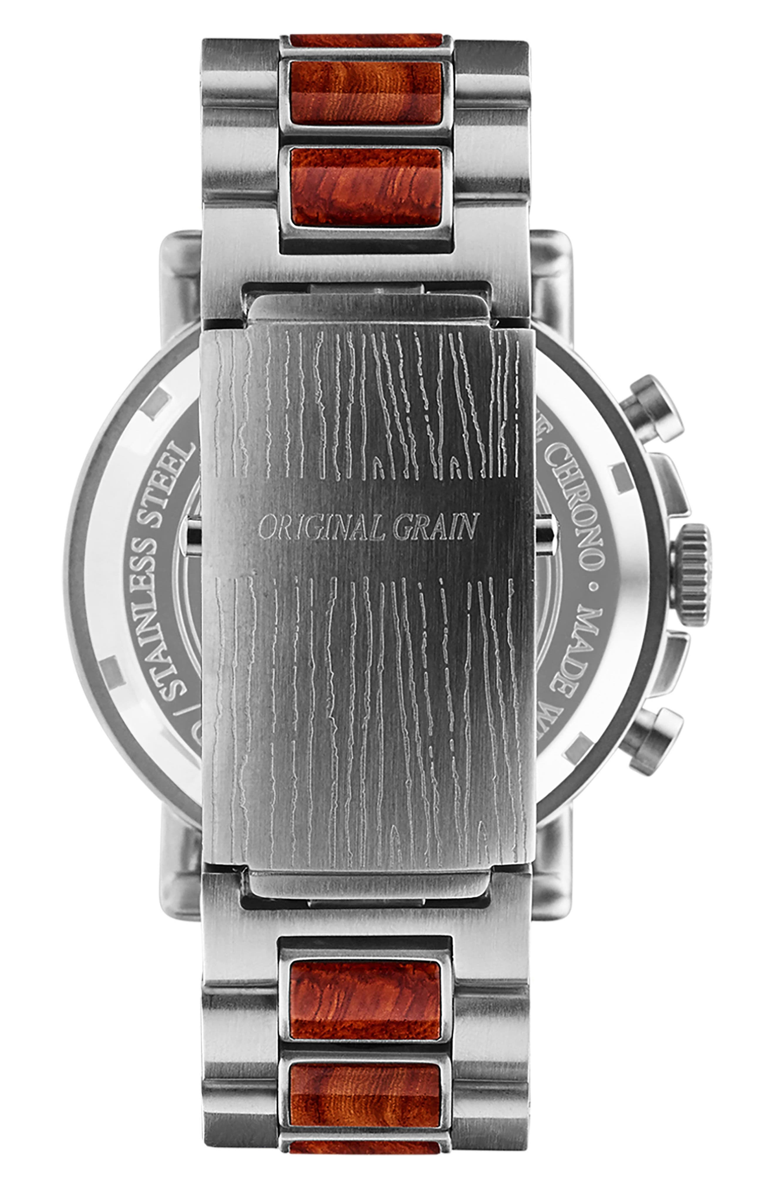 Alterra Chronograph Bracelet Watch,                             Alternate thumbnail 2, color,                             Rosewood/ Brushed Silver