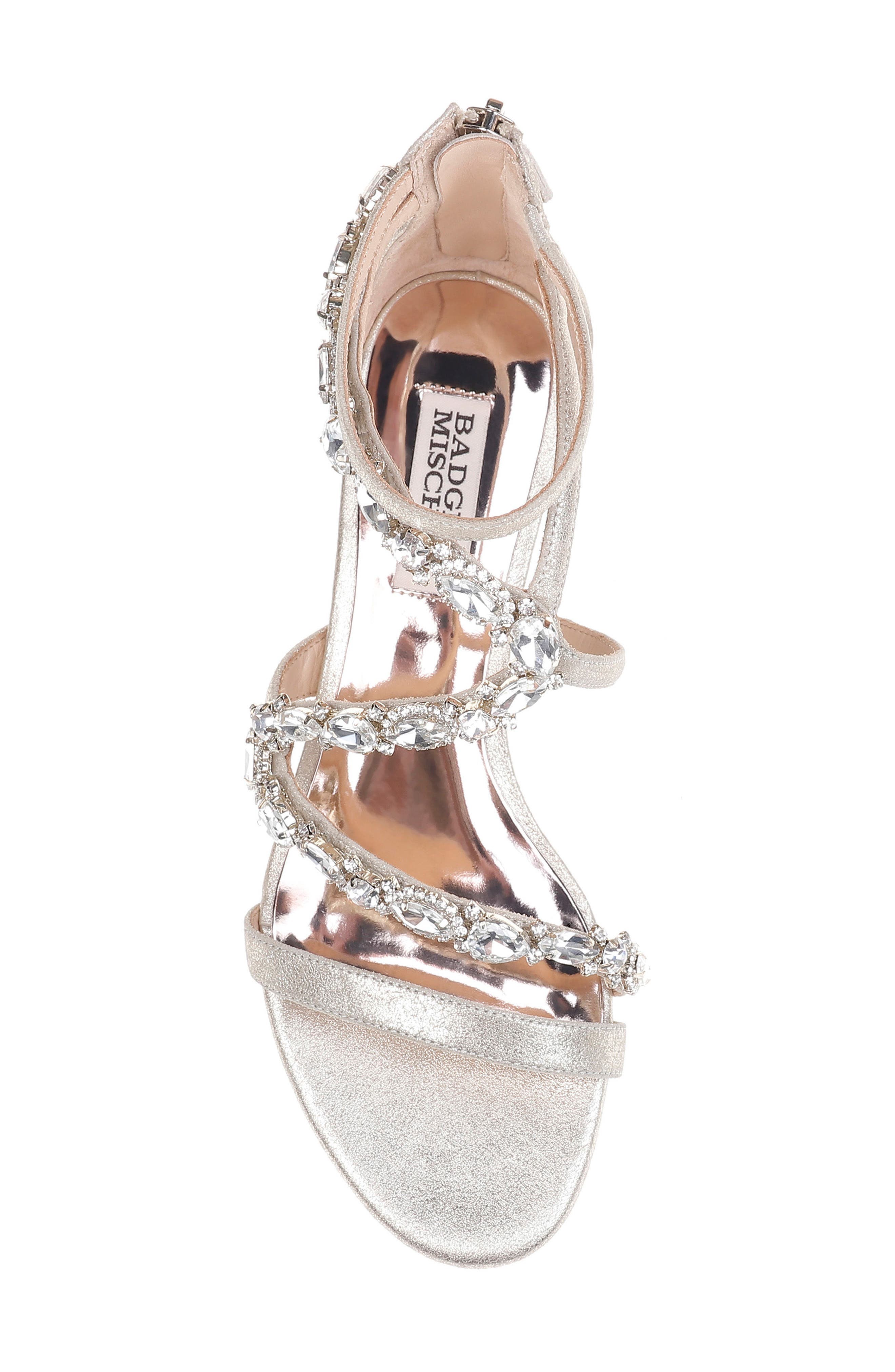 Sierra Strappy Wedge Sandal,                             Alternate thumbnail 5, color,                             Platino Suede