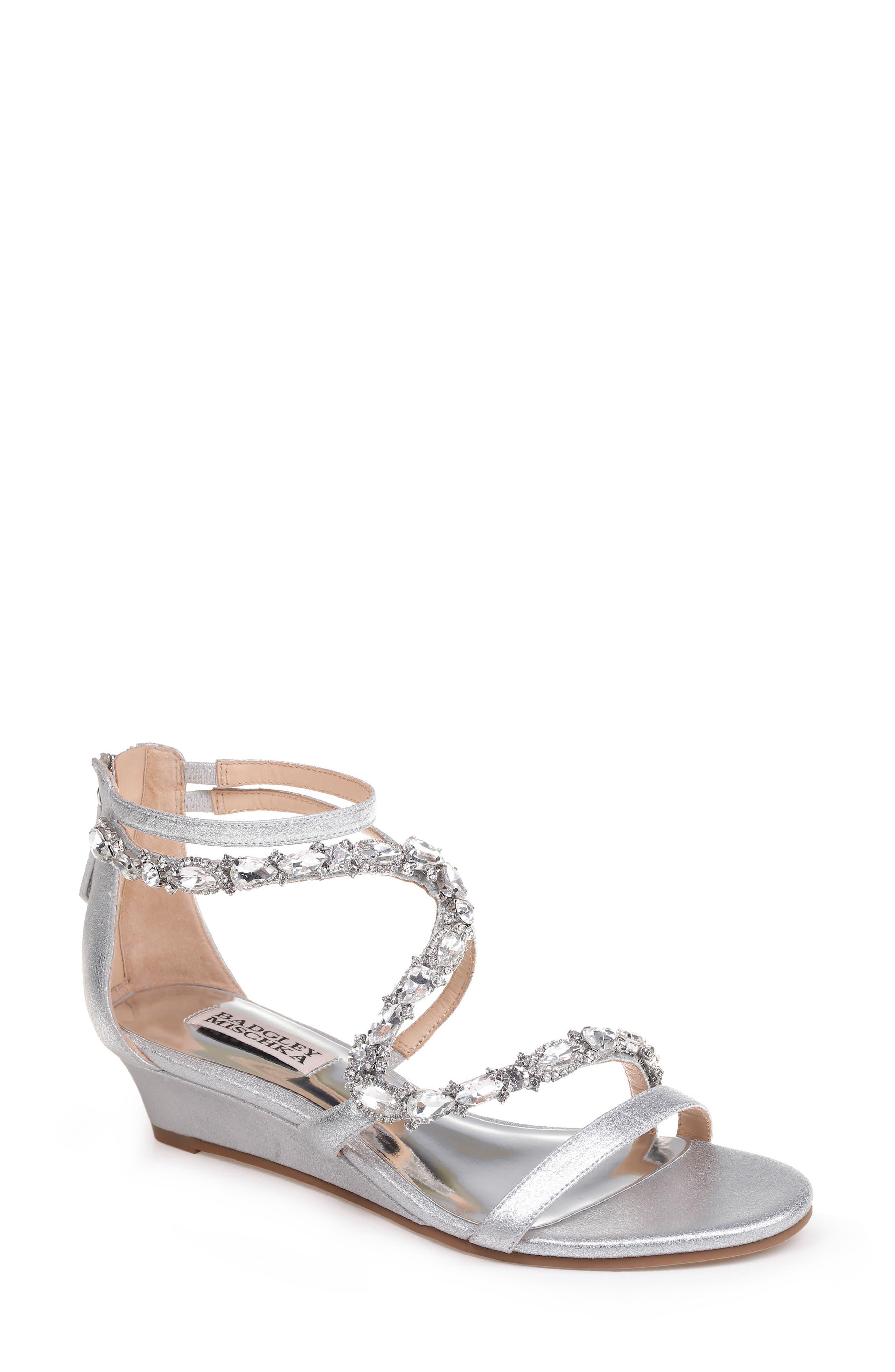 Alternate Image 1 Selected - Badgley Mischka Sierra Strappy Wedge Sandal (Women)