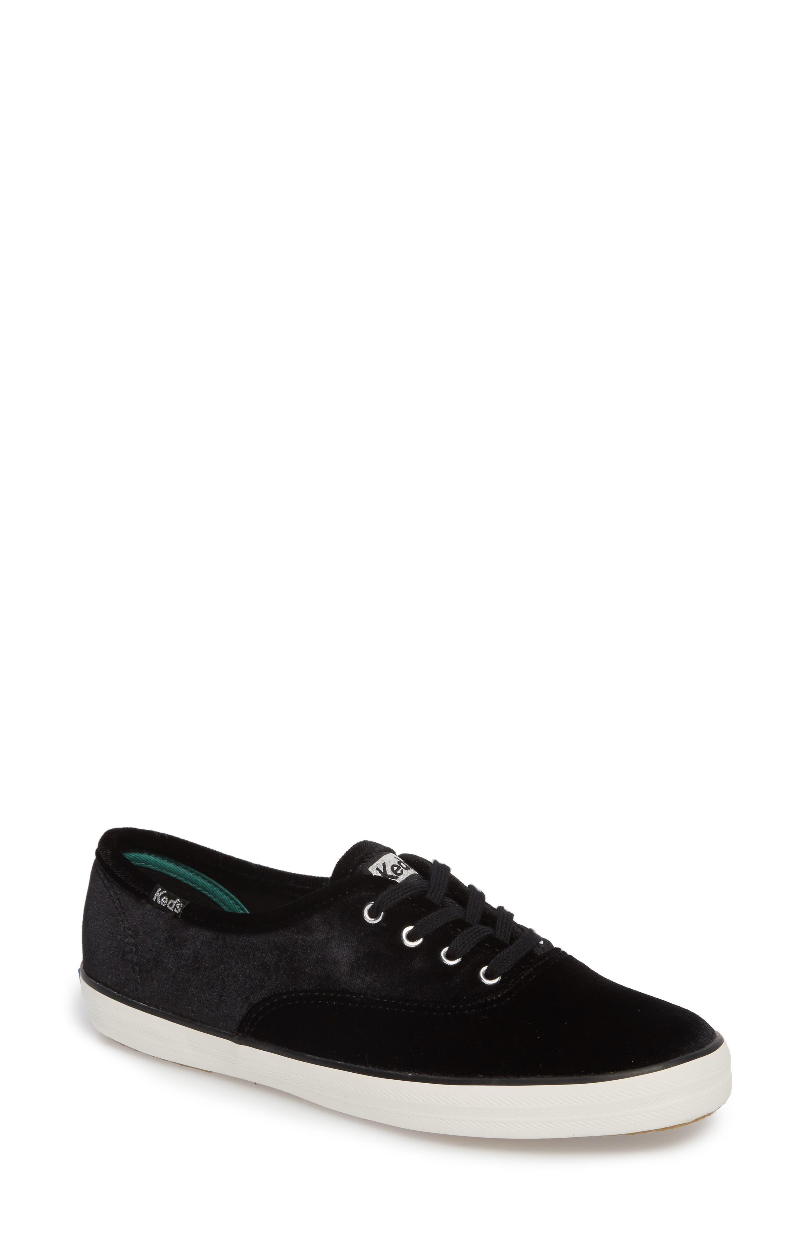 Champion Velvet Sneaker,                             Main thumbnail 1, color,                             Black