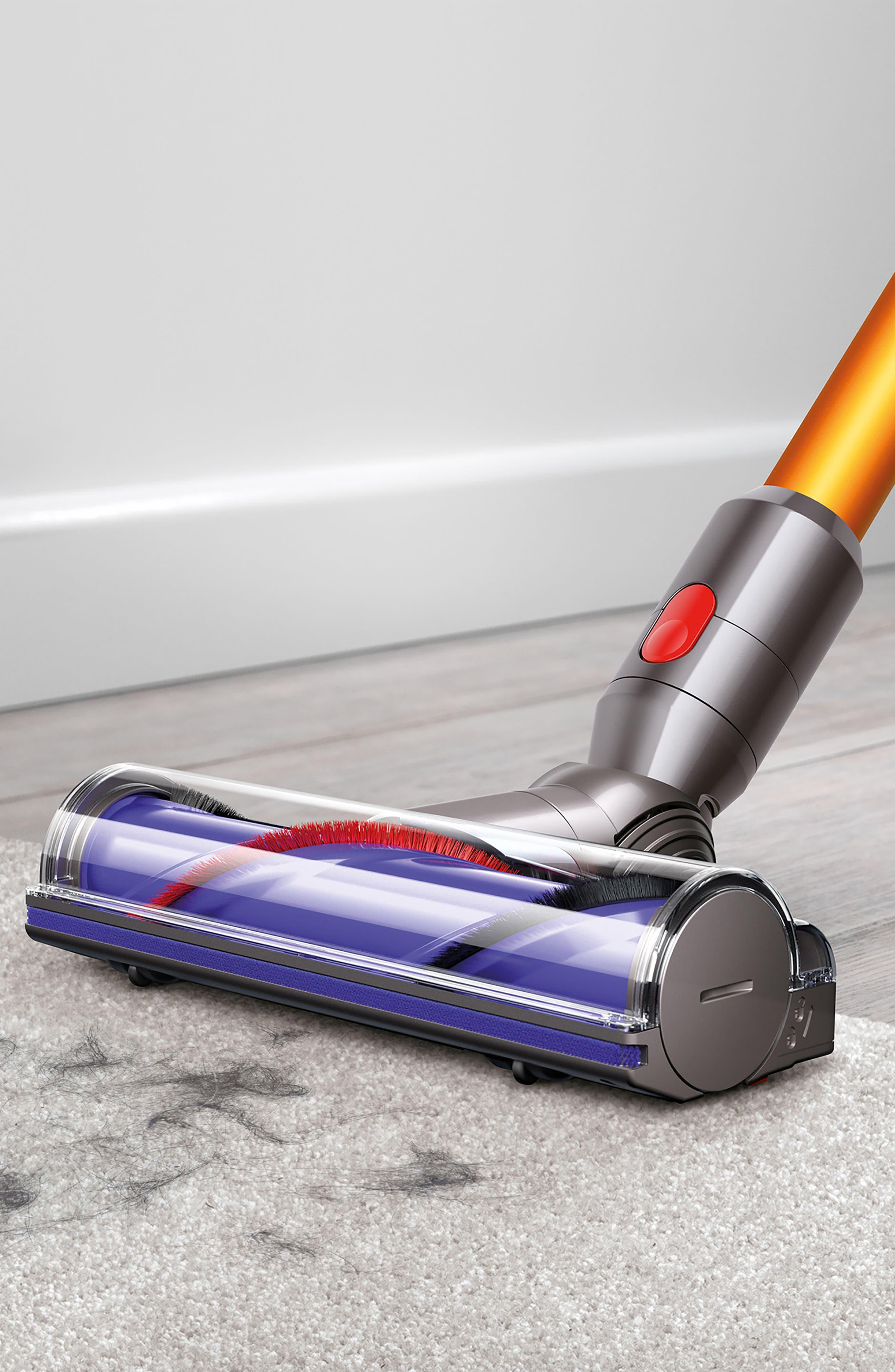 V8 Absolute Cordless Vacuum,                             Alternate thumbnail 5, color,                             Nickel/ Yellow/ Iron