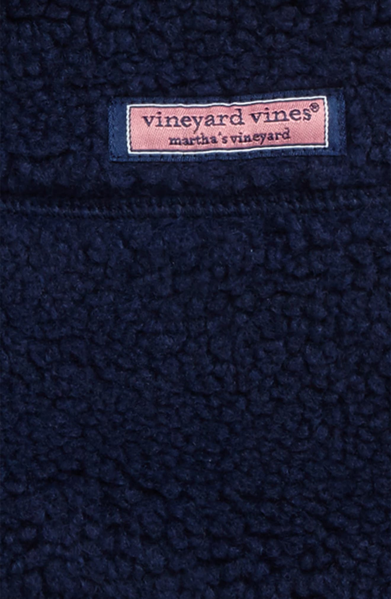 Alternate Image 2  - vineyard vines Fleece Zip Vest (Toddler Boys & Little Boys)