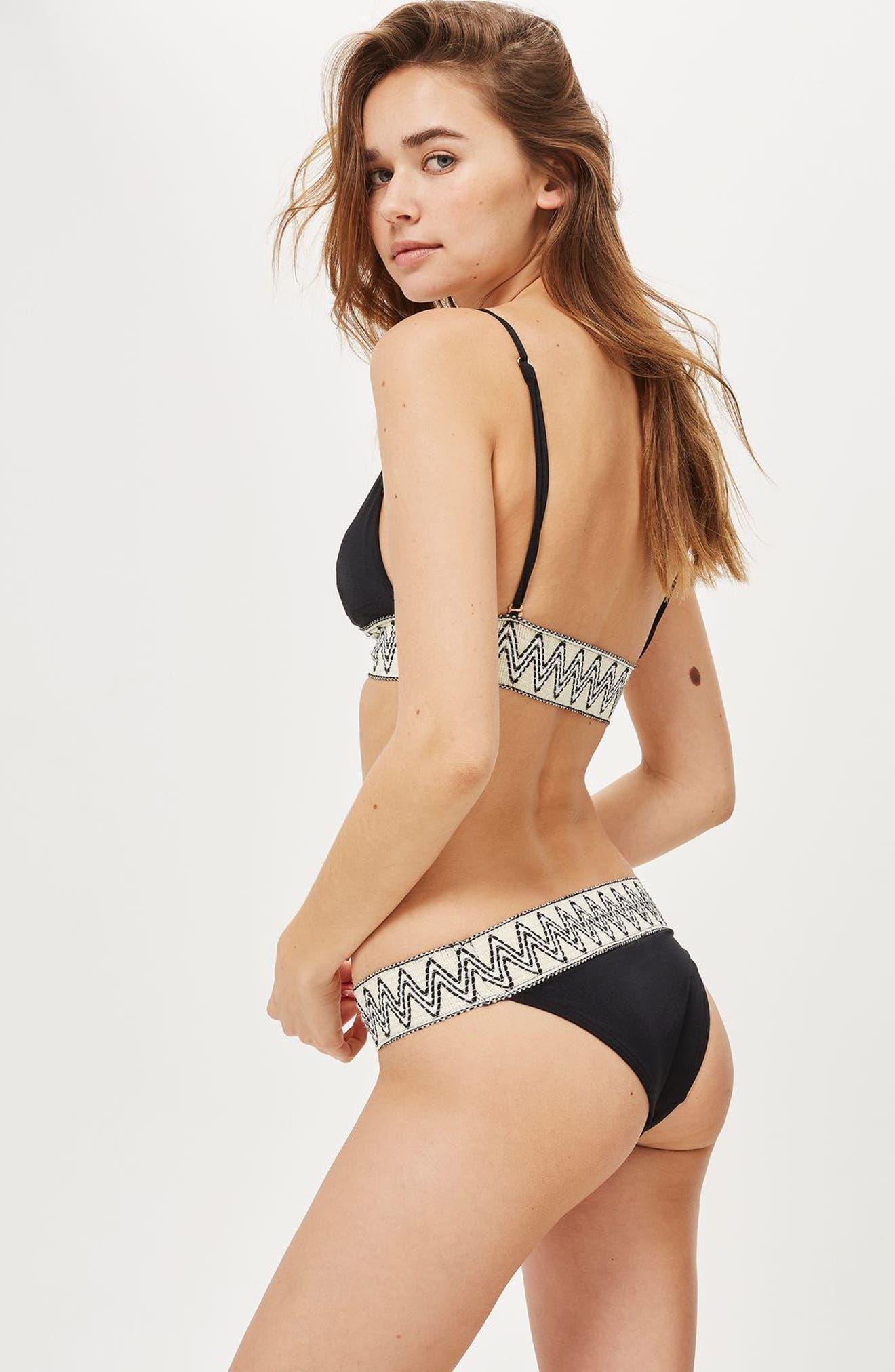 Alternate Image 2  - Topshop Zigzag Trim Triangle Bikini Top