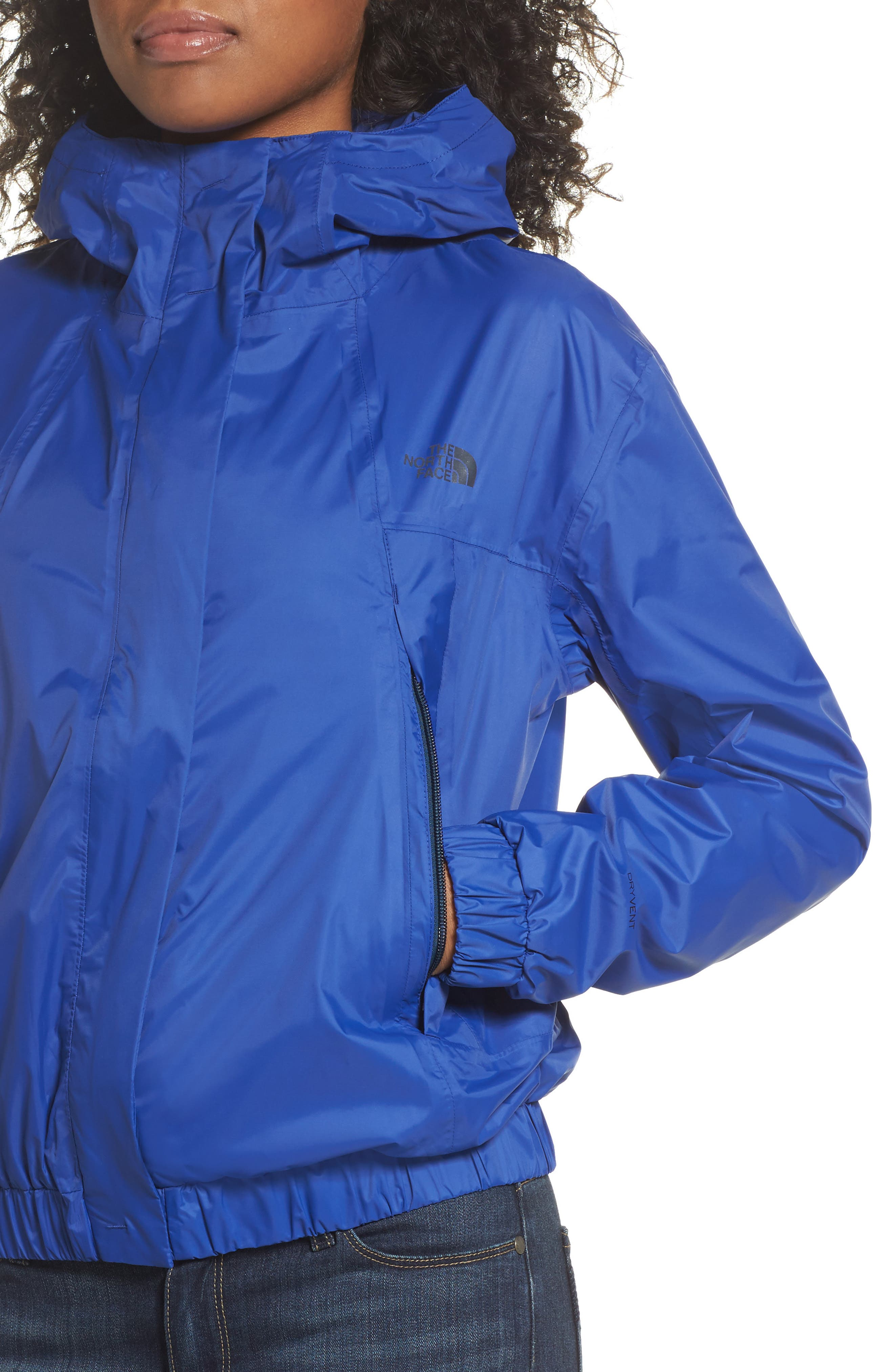 Precita Rain Jacket,                             Alternate thumbnail 4, color,                             Sodalite Blue