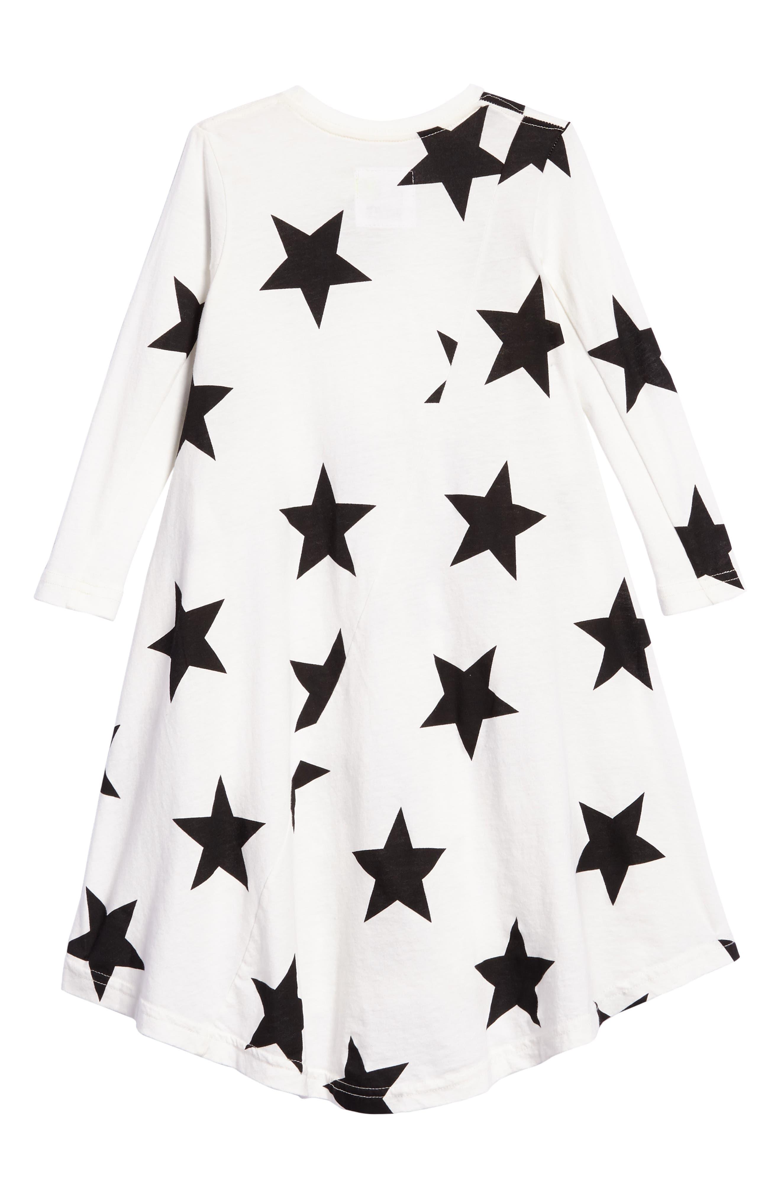 Star Print Maxi Dress,                             Alternate thumbnail 4, color,                             White