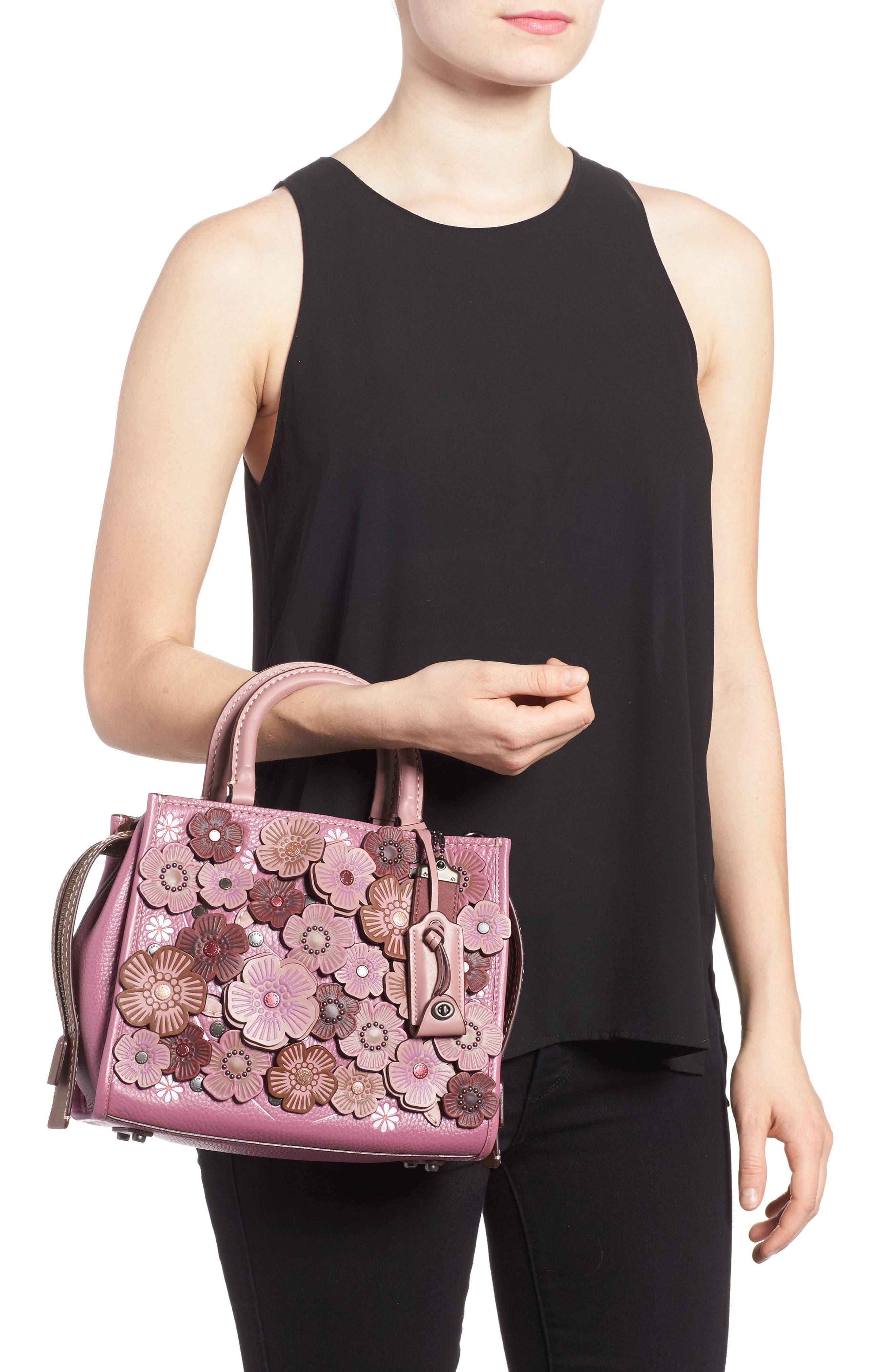 Alternate Image 2  - COACH 1941 Rogue 25 Tea Rose Appliqué Leather Crossbody Bag
