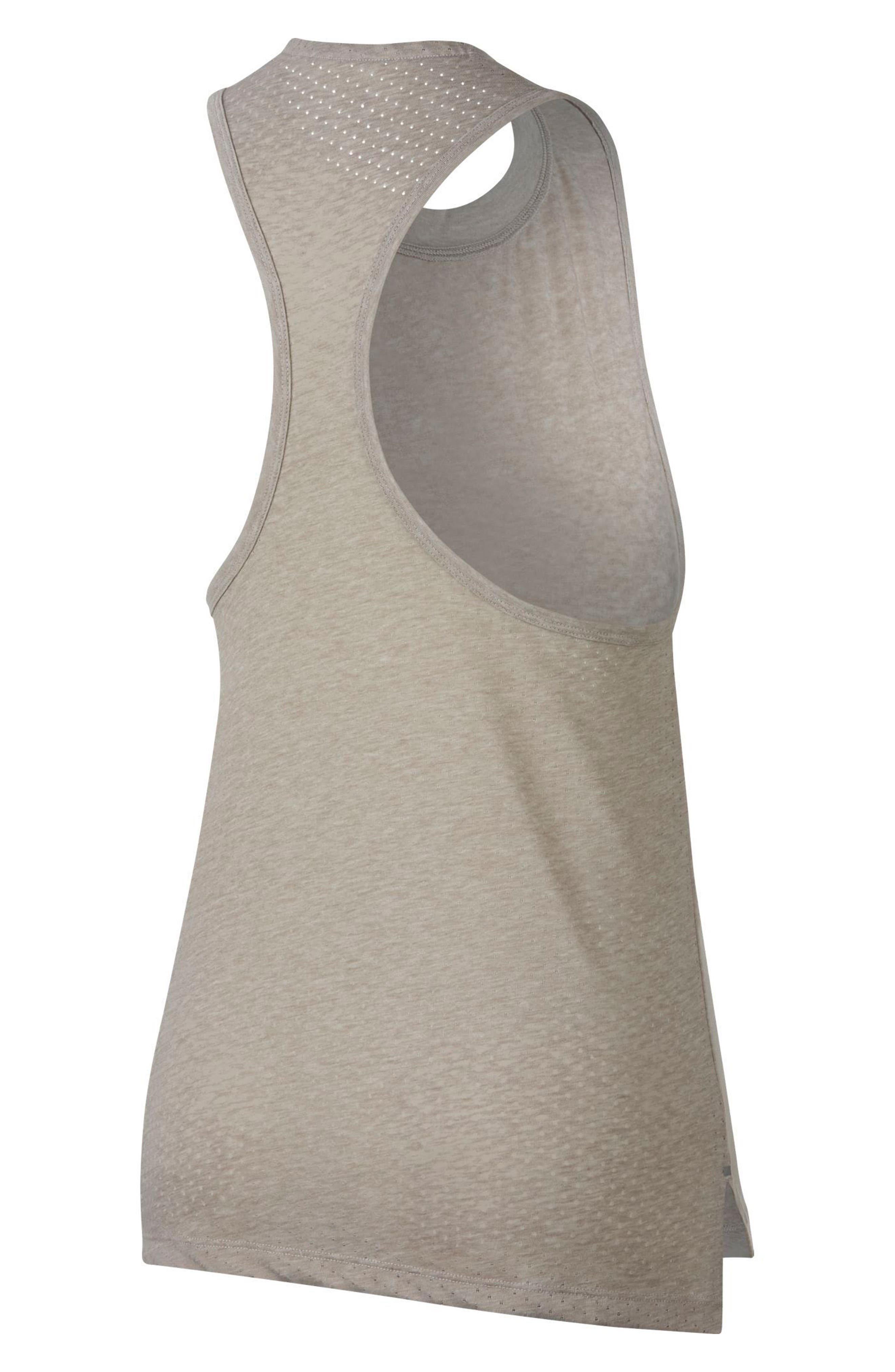 Breathe Tailwind Women's Running Tank,                             Alternate thumbnail 2, color,                             Moon Particle/ Heather/ Red