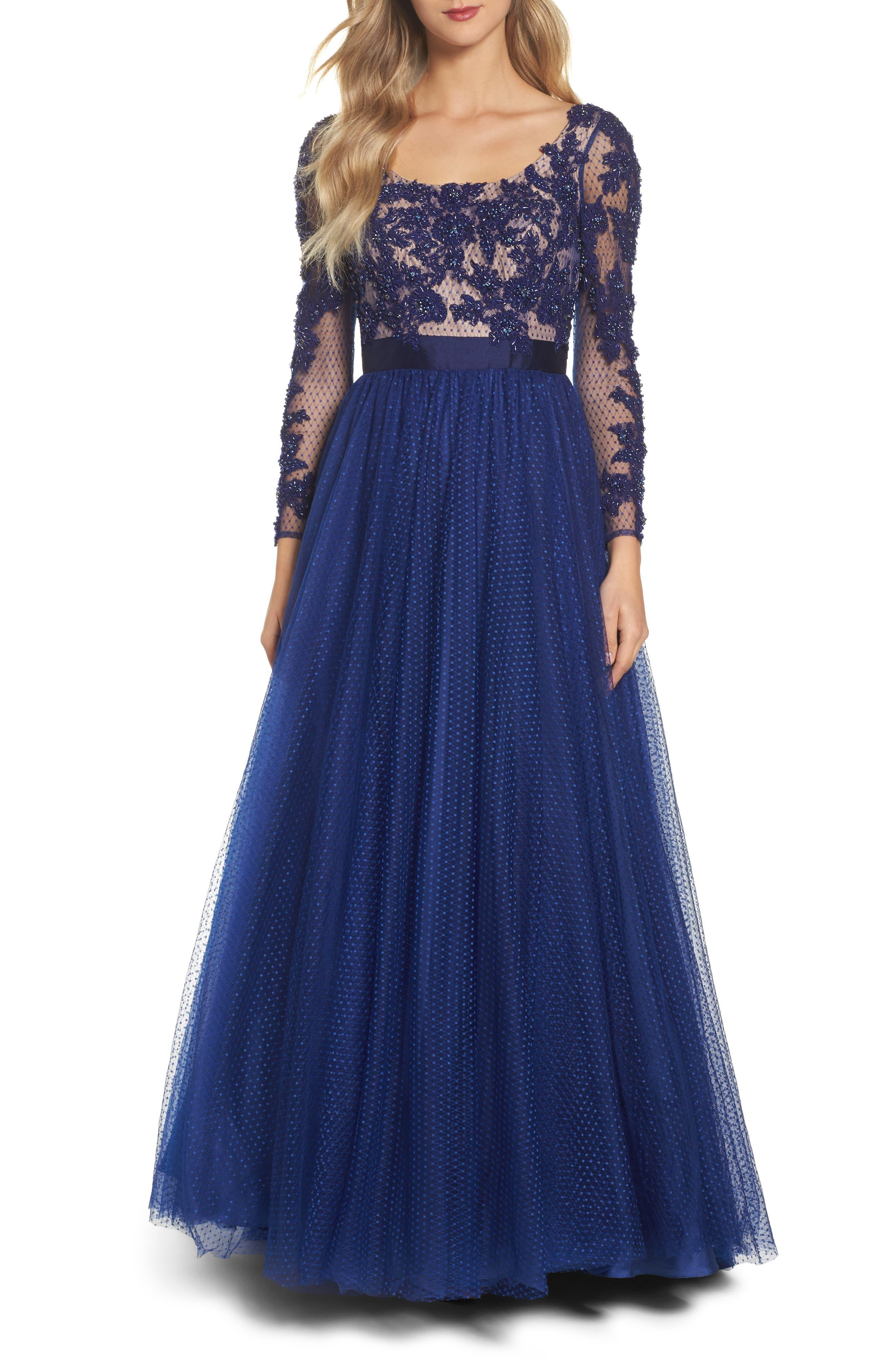 Mac Duggal Beaded Bodice Gown