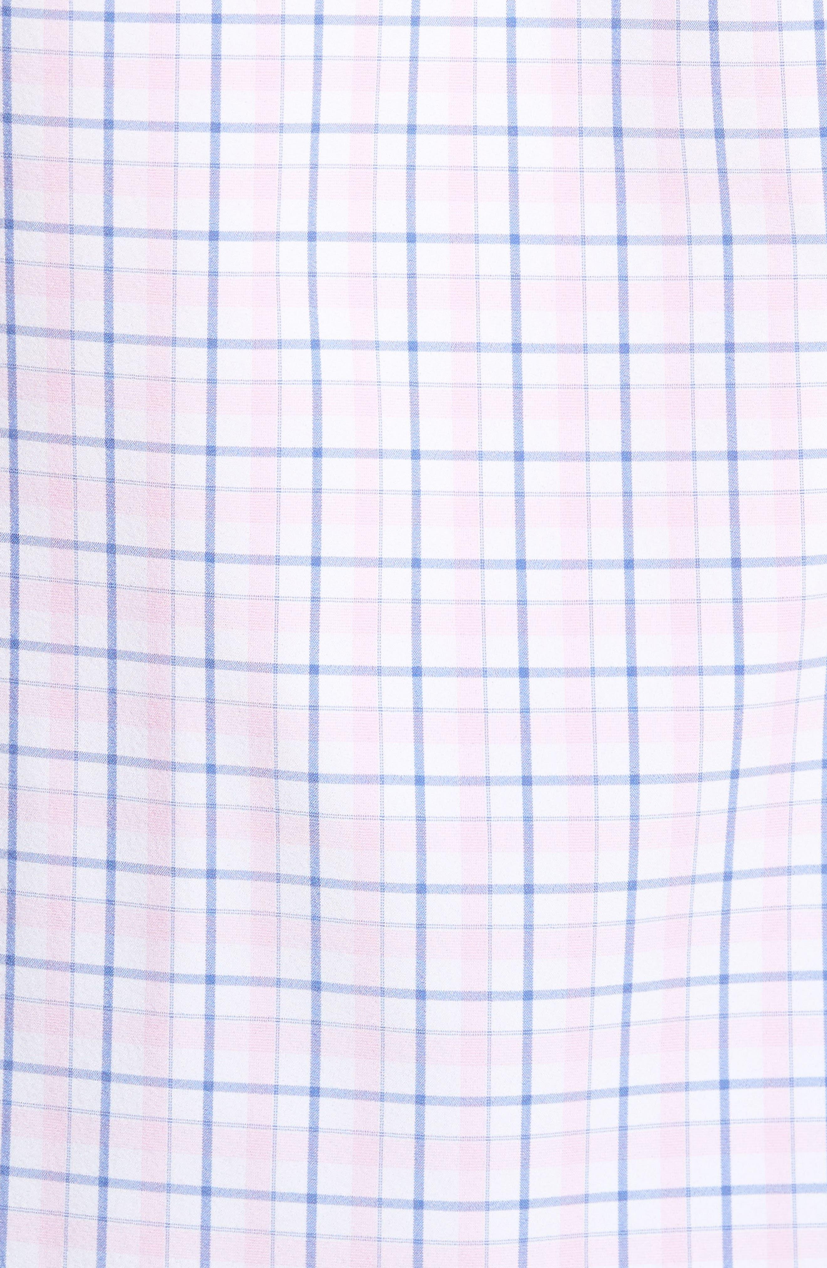 Wailea Plaid Sport Shirt,                             Alternate thumbnail 5, color,                             Pink