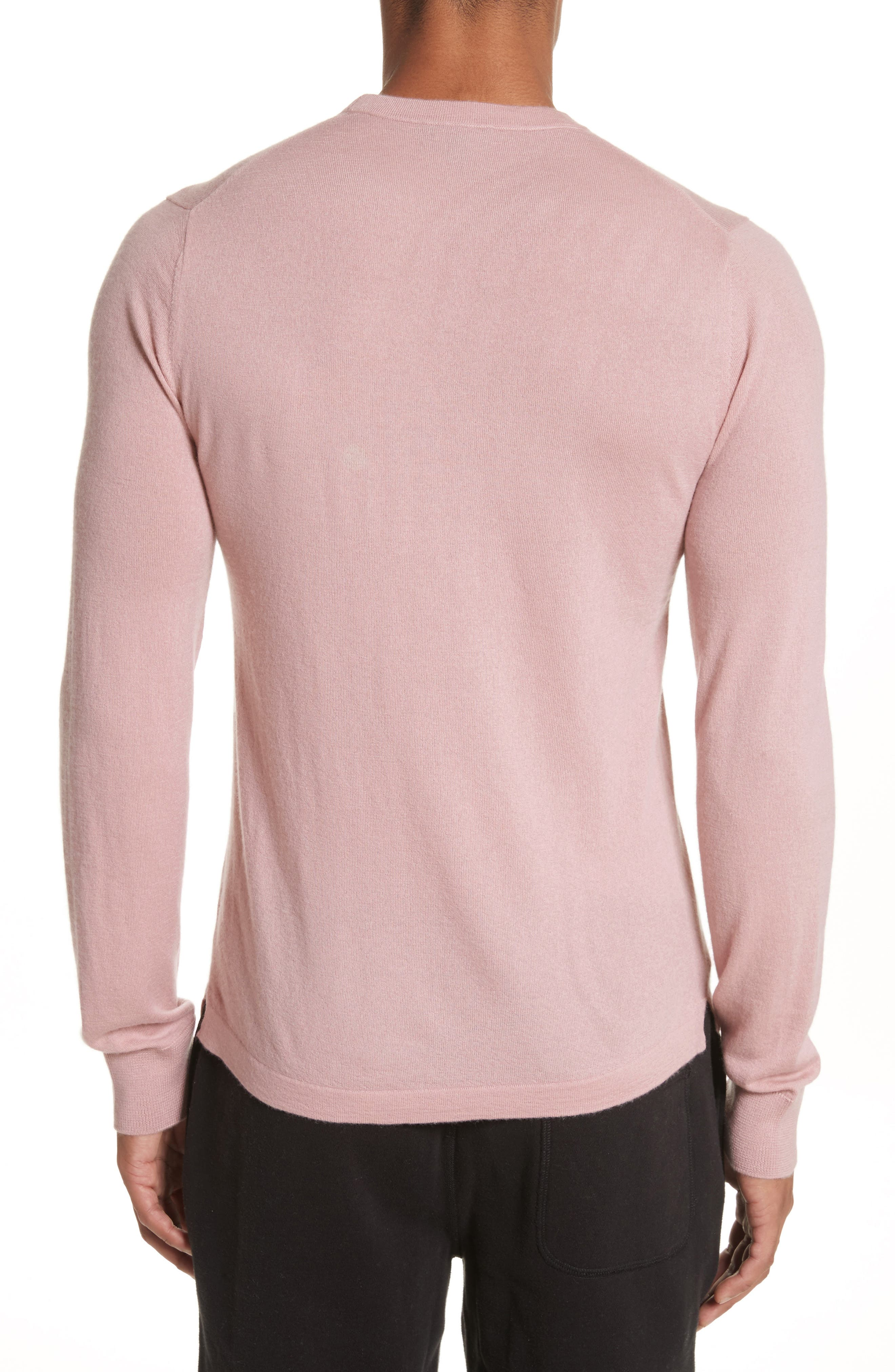 Cashmere Long Sleeve T-Shirt,                             Alternate thumbnail 2, color,                             Pink