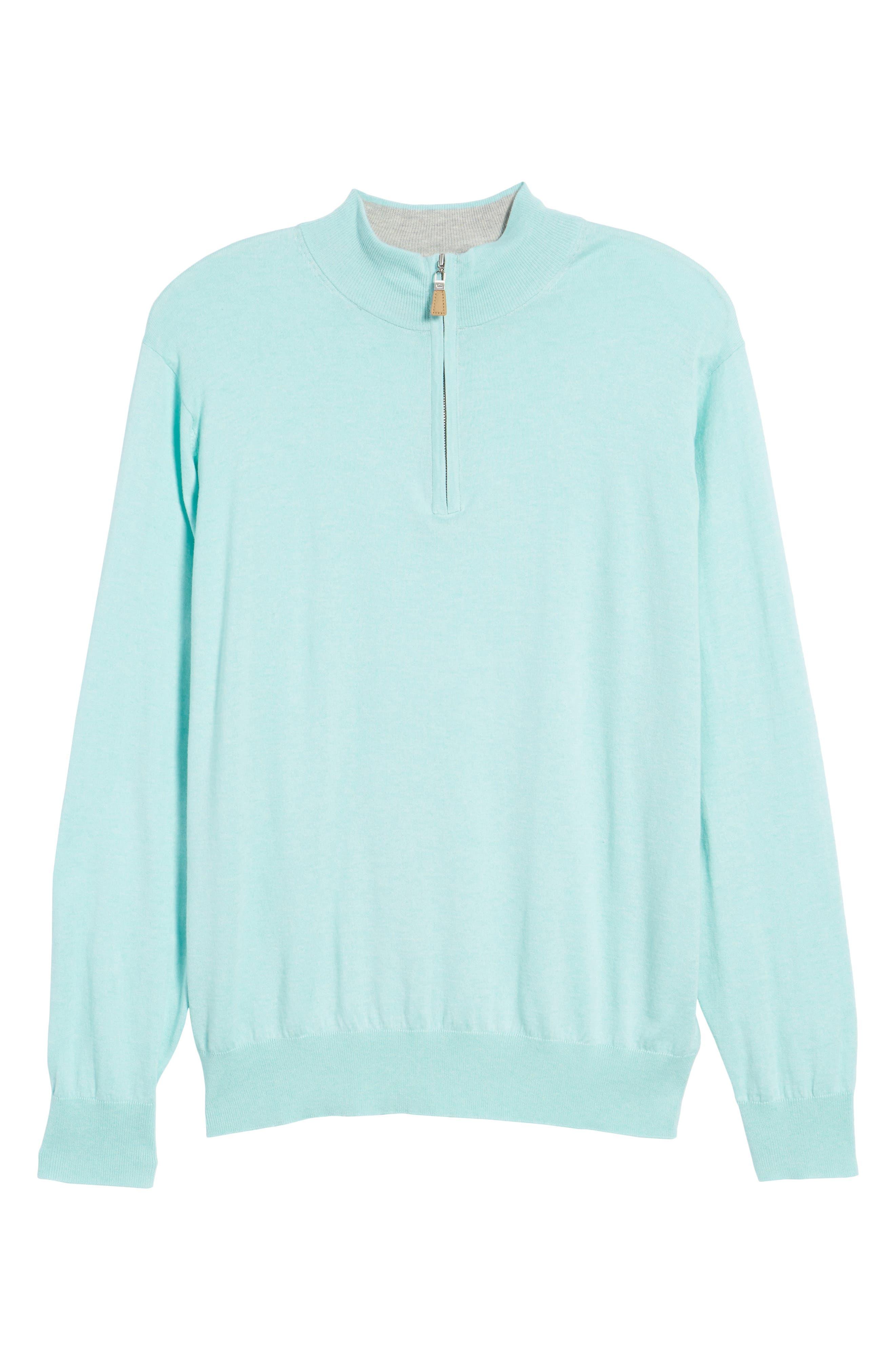 Crown Soft Quarter-Zip Pullover,                             Alternate thumbnail 6, color,                             Venetian Mist