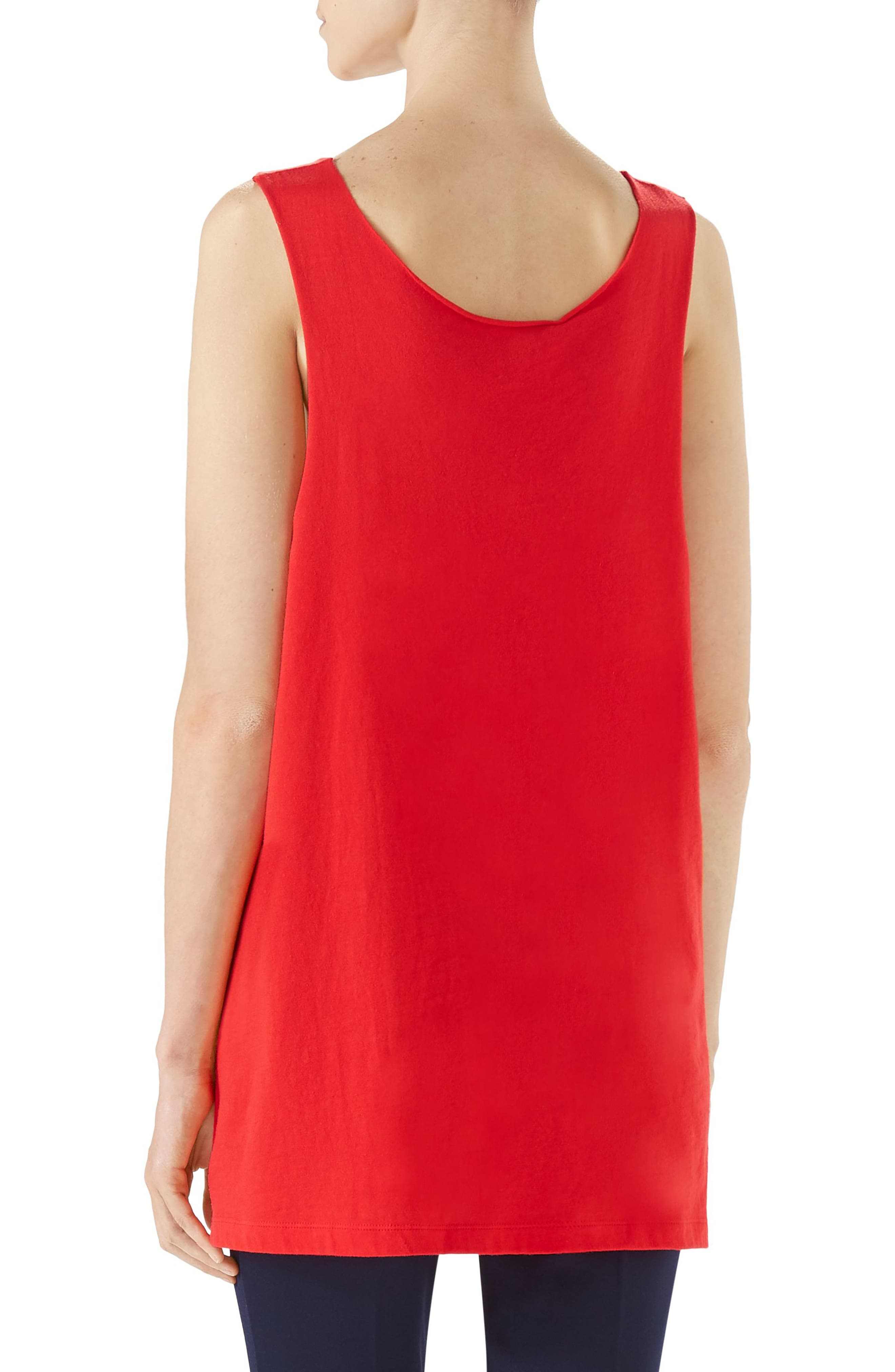 Logo Jersey Tank,                             Alternate thumbnail 2, color,                             Live Red