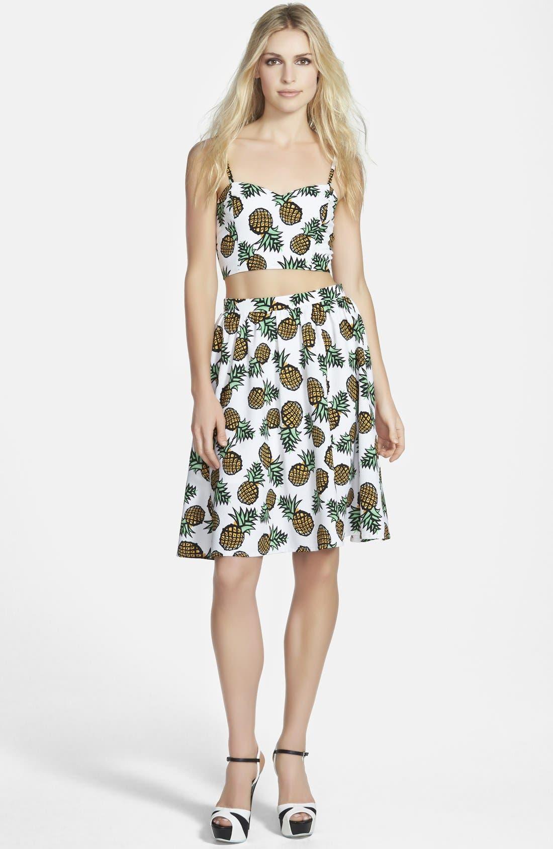 Alternate Image 4  - Piece Goods Pineapple Skirt