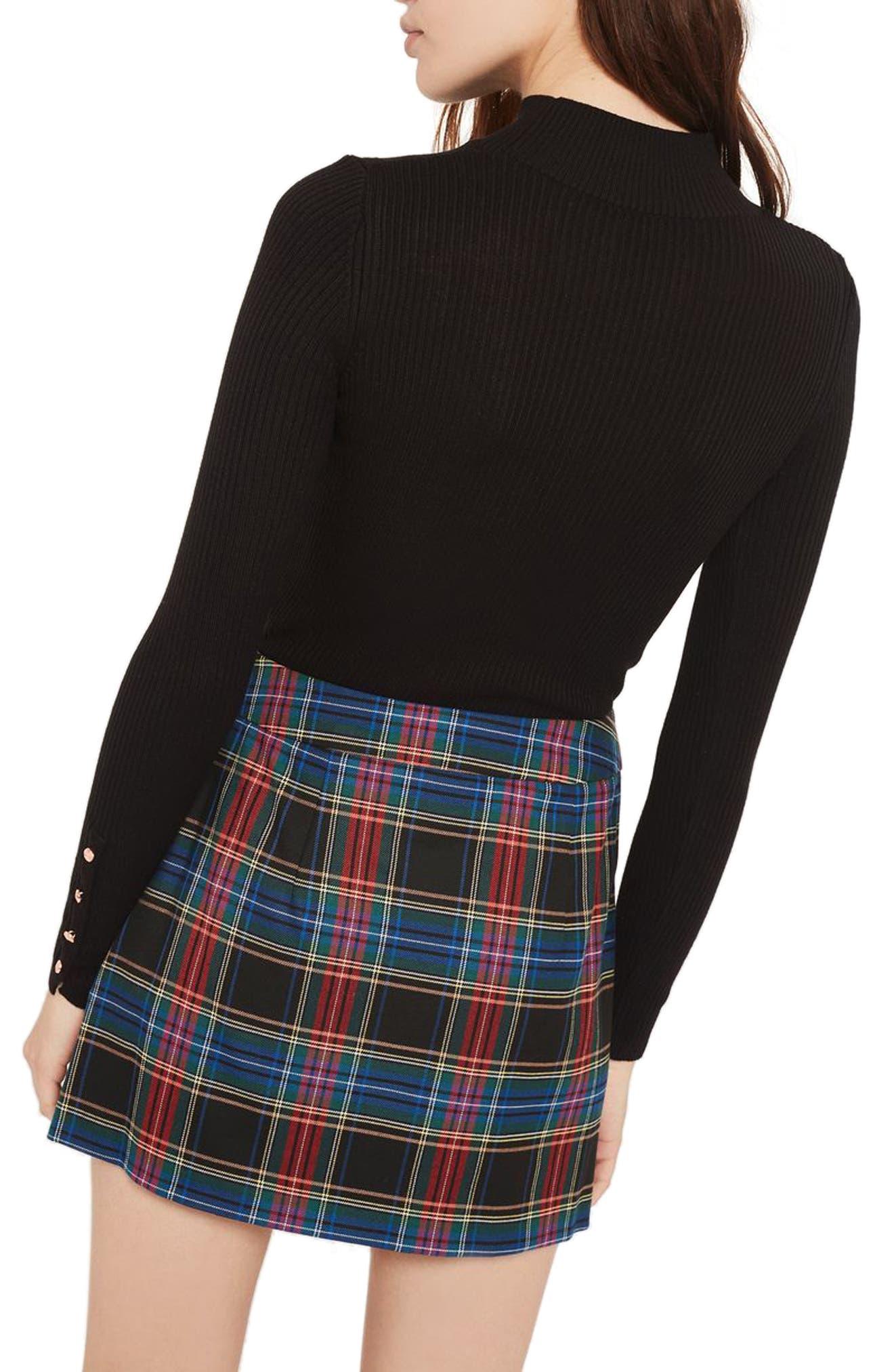 Button Cuff Sweater,                             Alternate thumbnail 2, color,                             Black
