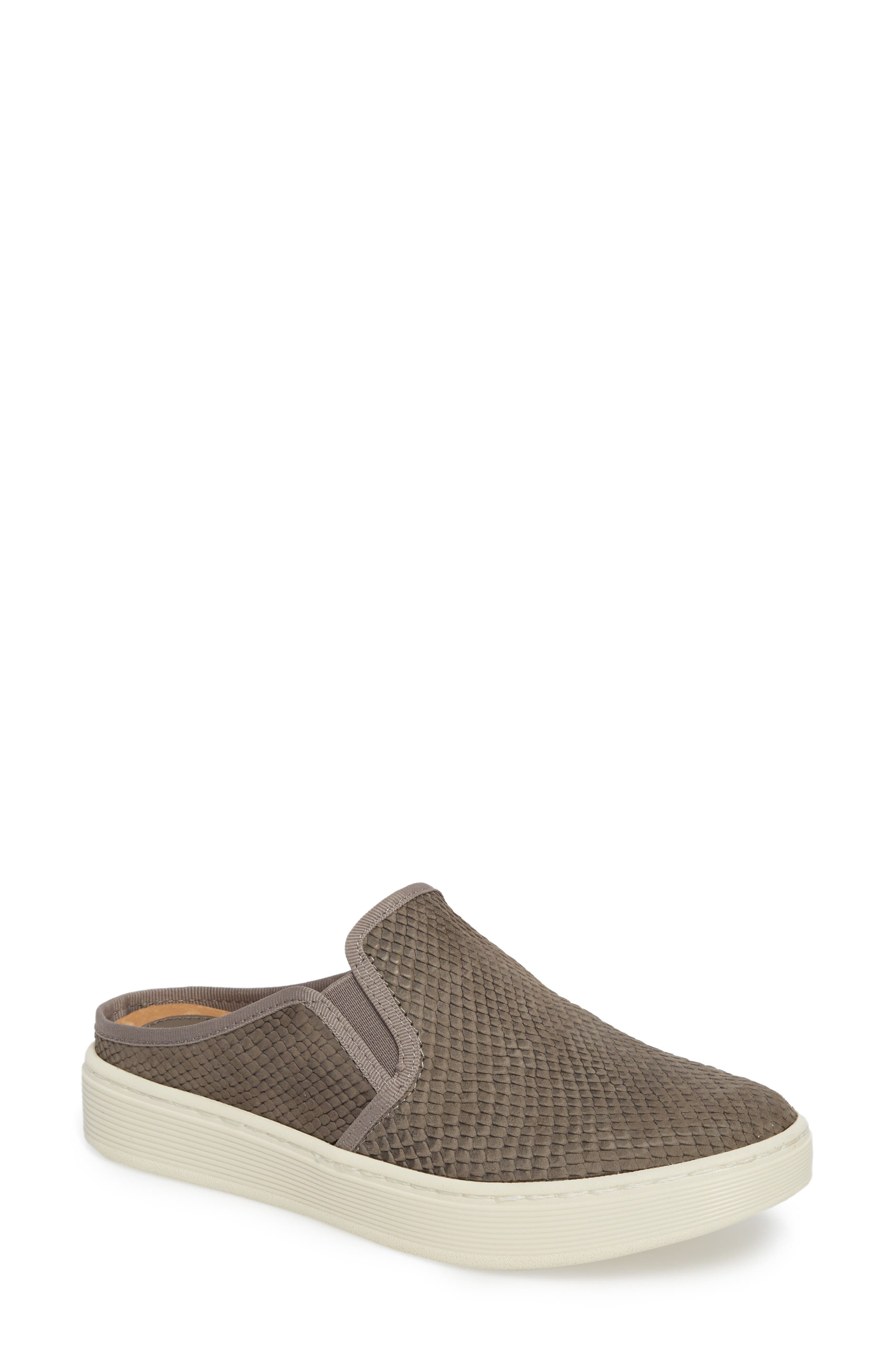 Somers Slip-On Sneaker,                             Main thumbnail 1, color,                             Snare Grey Print Leather