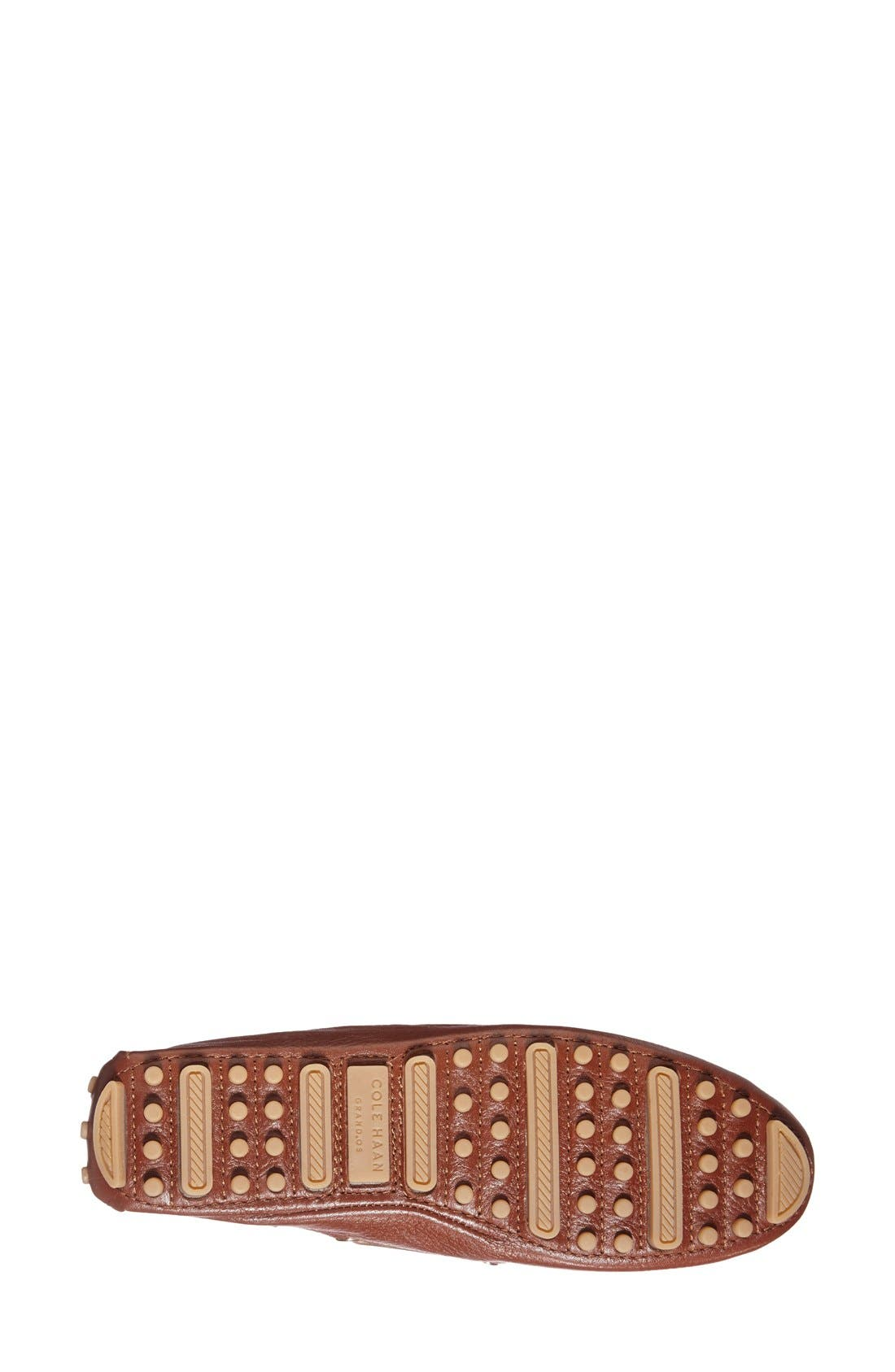 'Cary' Leather Driving Flat,                             Alternate thumbnail 5, color,                             Woodbury