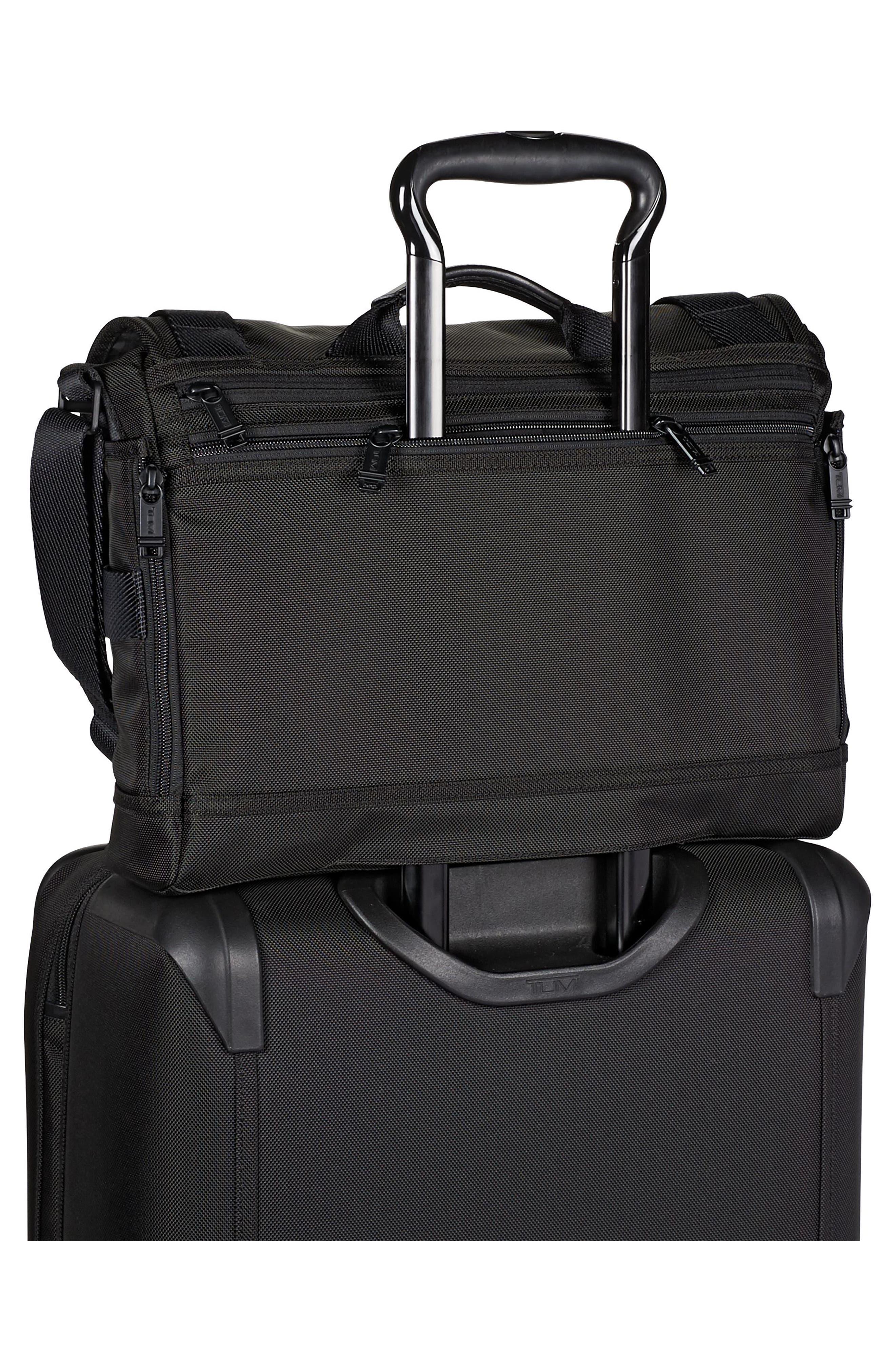 Alpha Bravo - Fallon Messenger Bag,                             Alternate thumbnail 6, color,                             Black