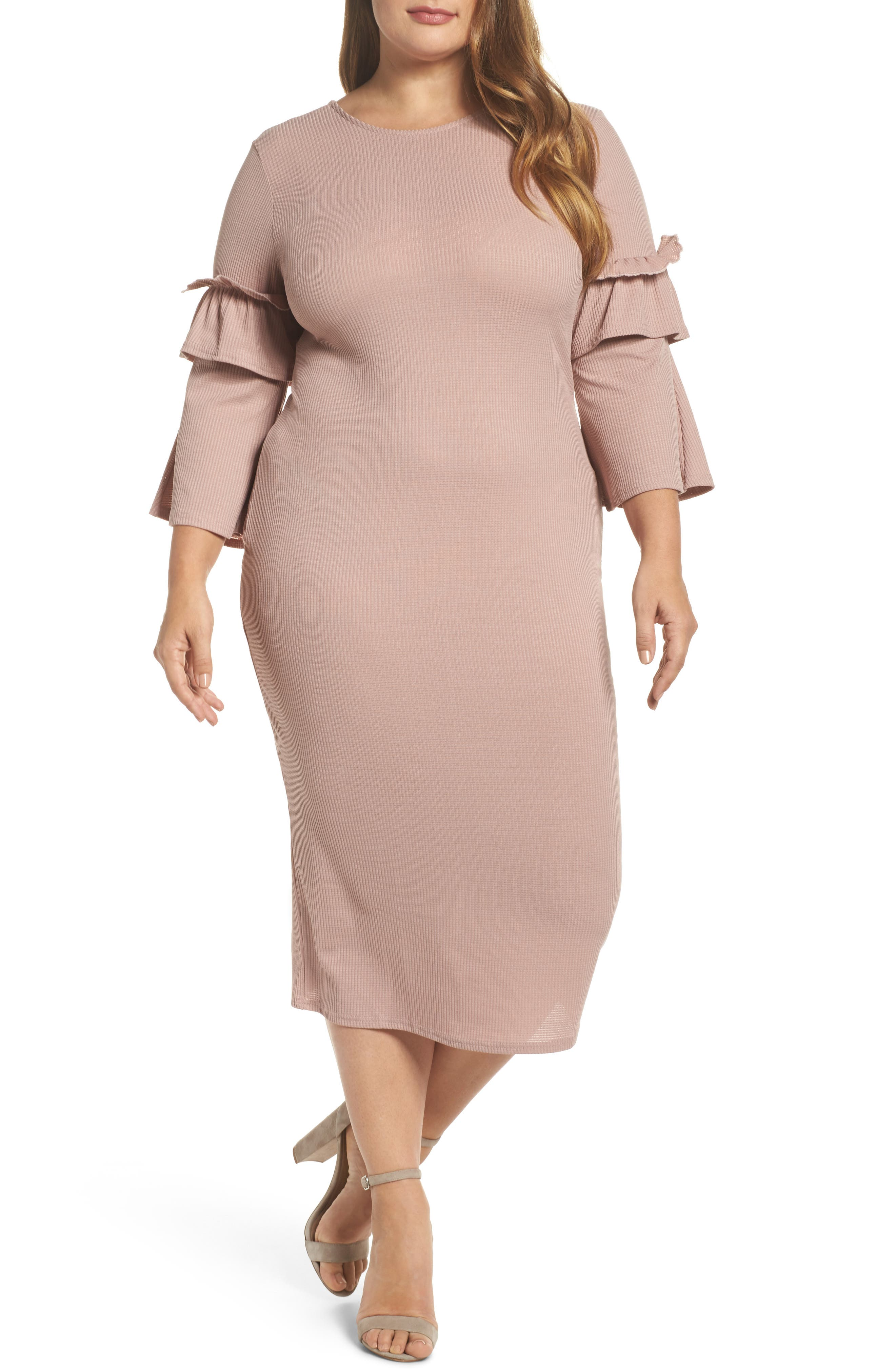 Cranberry and cream dress plus size
