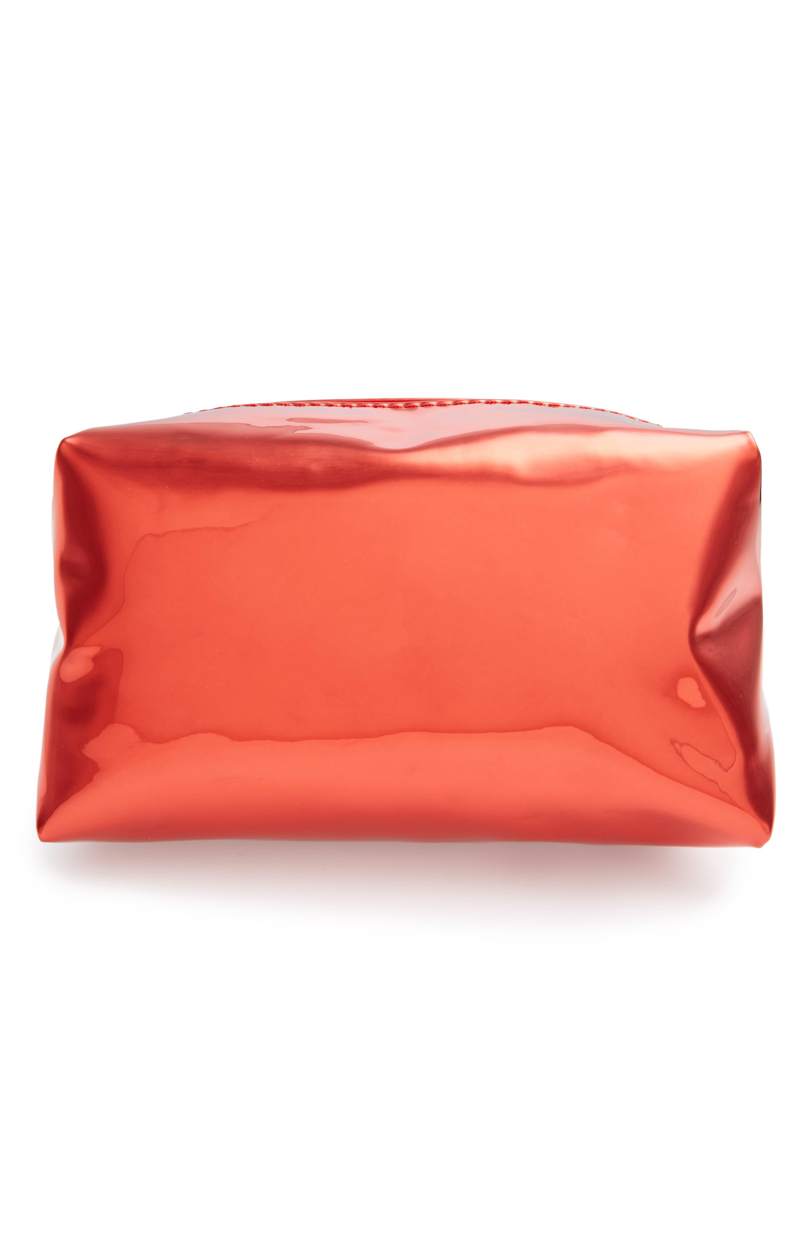 Main Image - Yoki Bags Metallic Cosmetics Bag