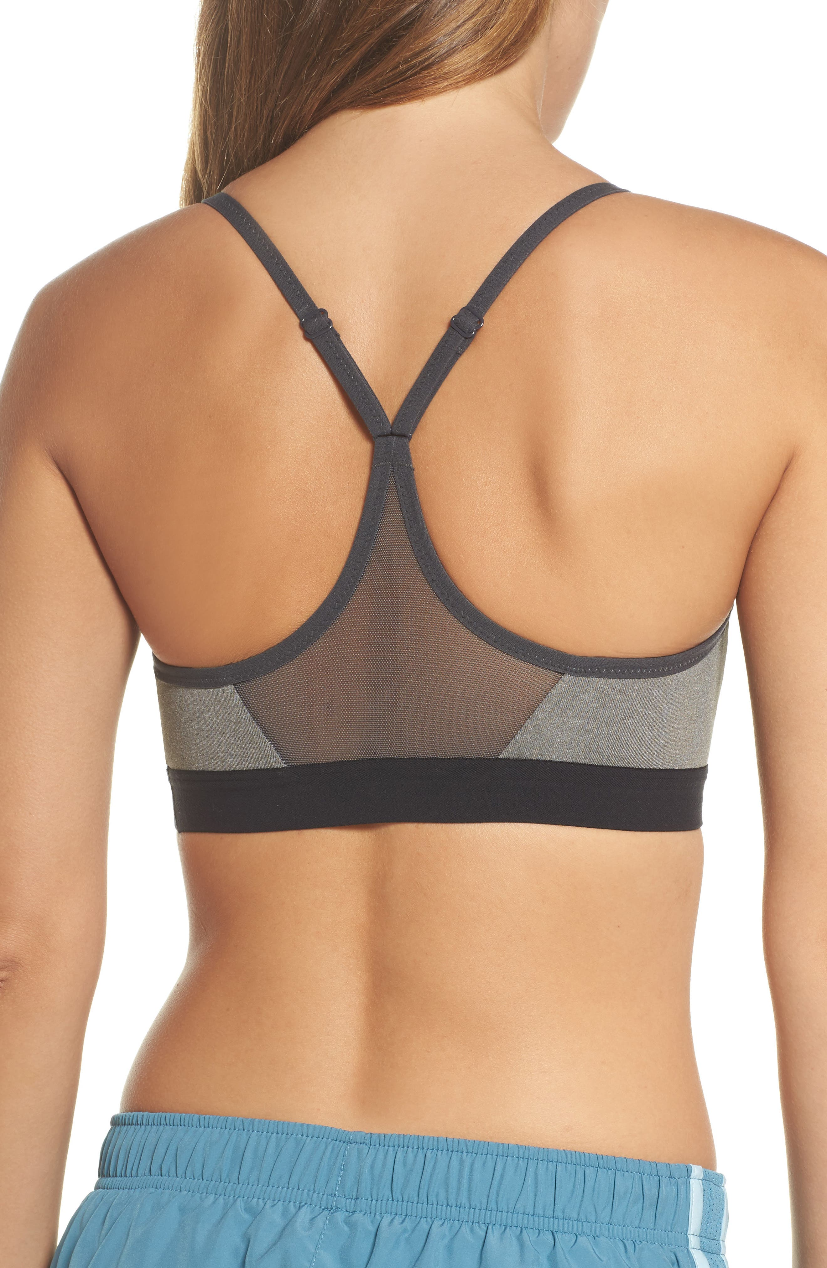 Indy Sports Bra,                             Alternate thumbnail 2, color,                             Carbon Heather/ Anthracite
