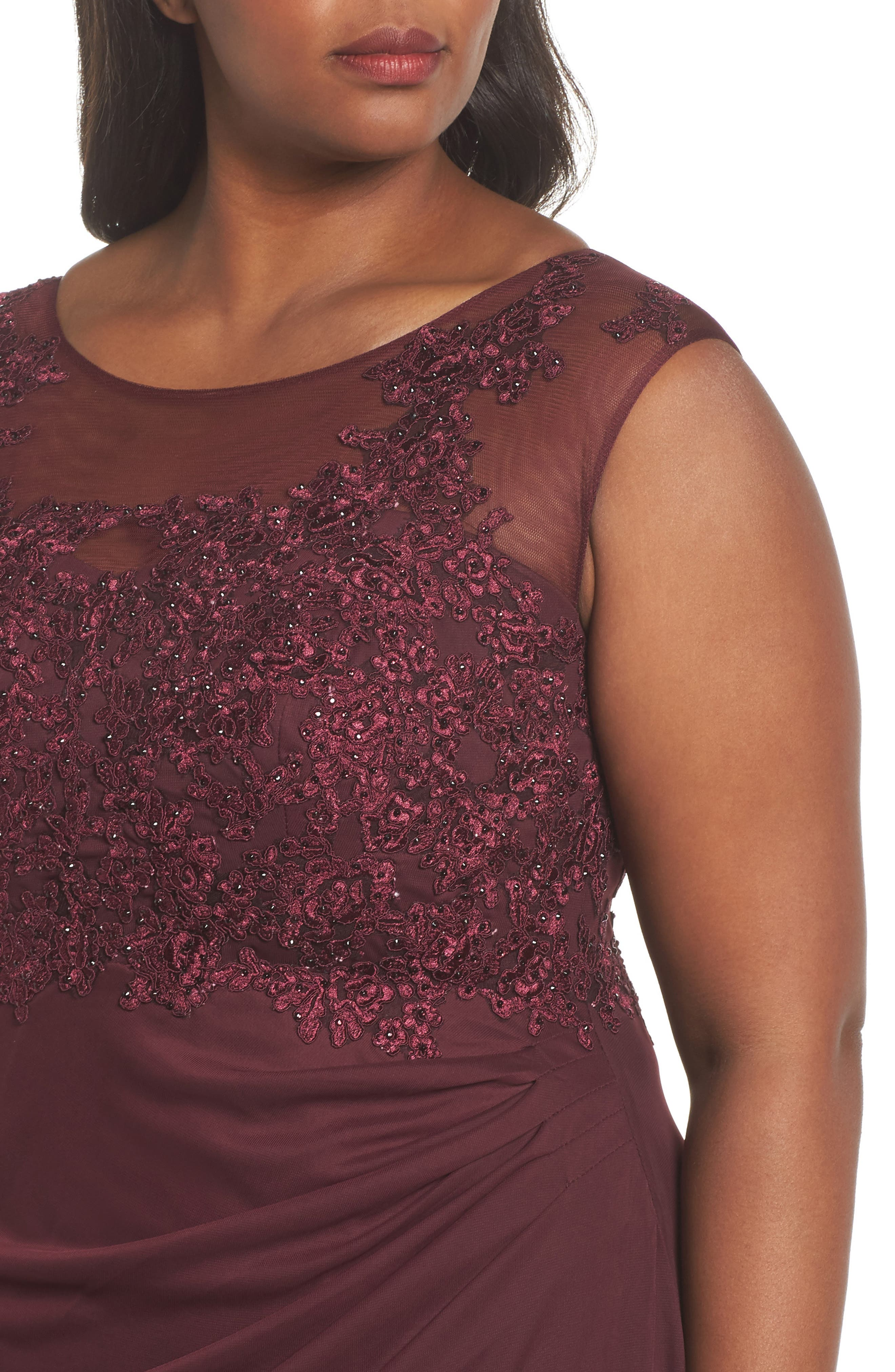 Alternate Image 4  - Decode 1.8 Embellished Ruched Jersey Gown (Plus Size)