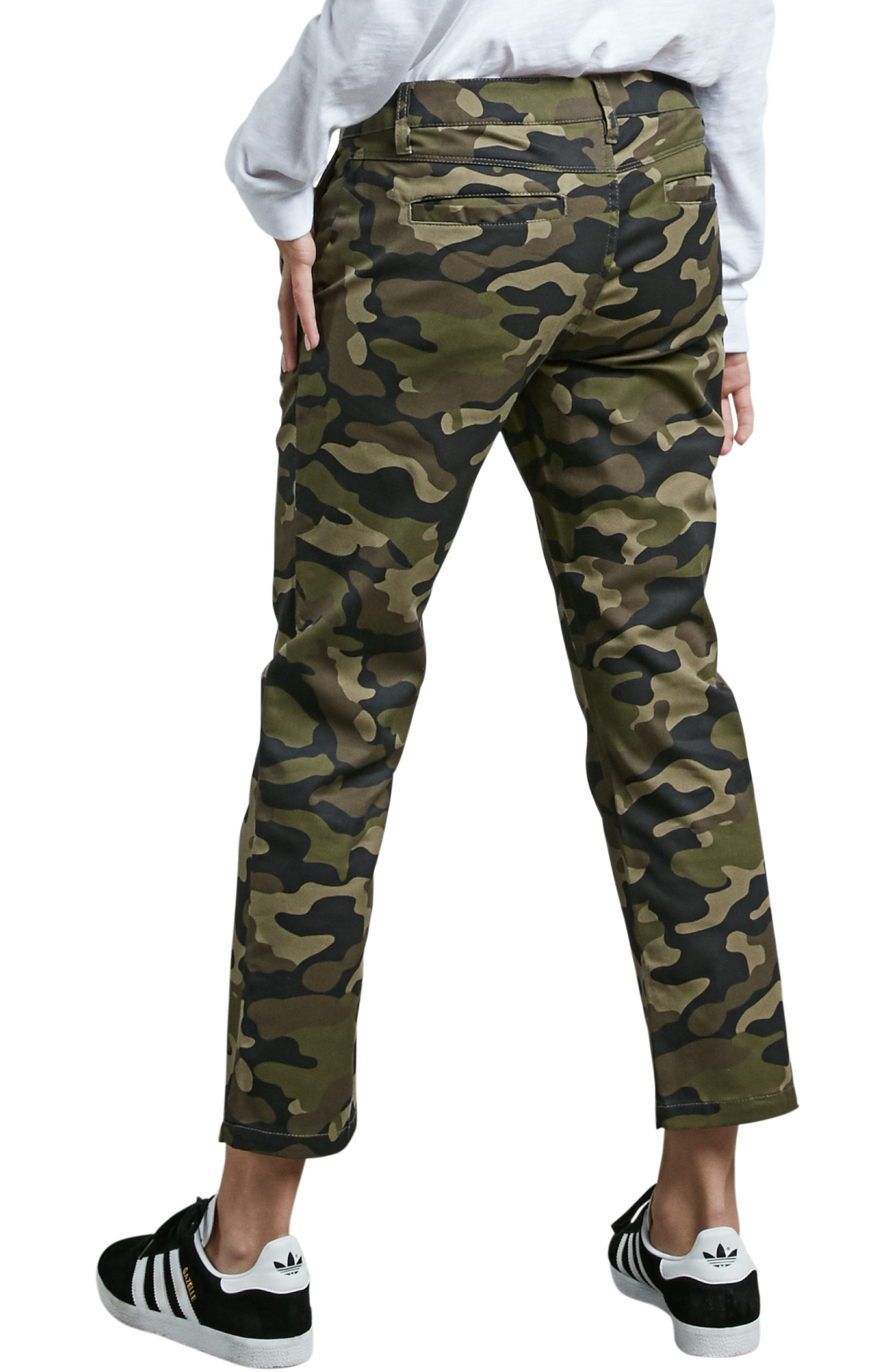 Frochickie Crop Pants,                             Alternate thumbnail 3, color,                             Dark Camo
