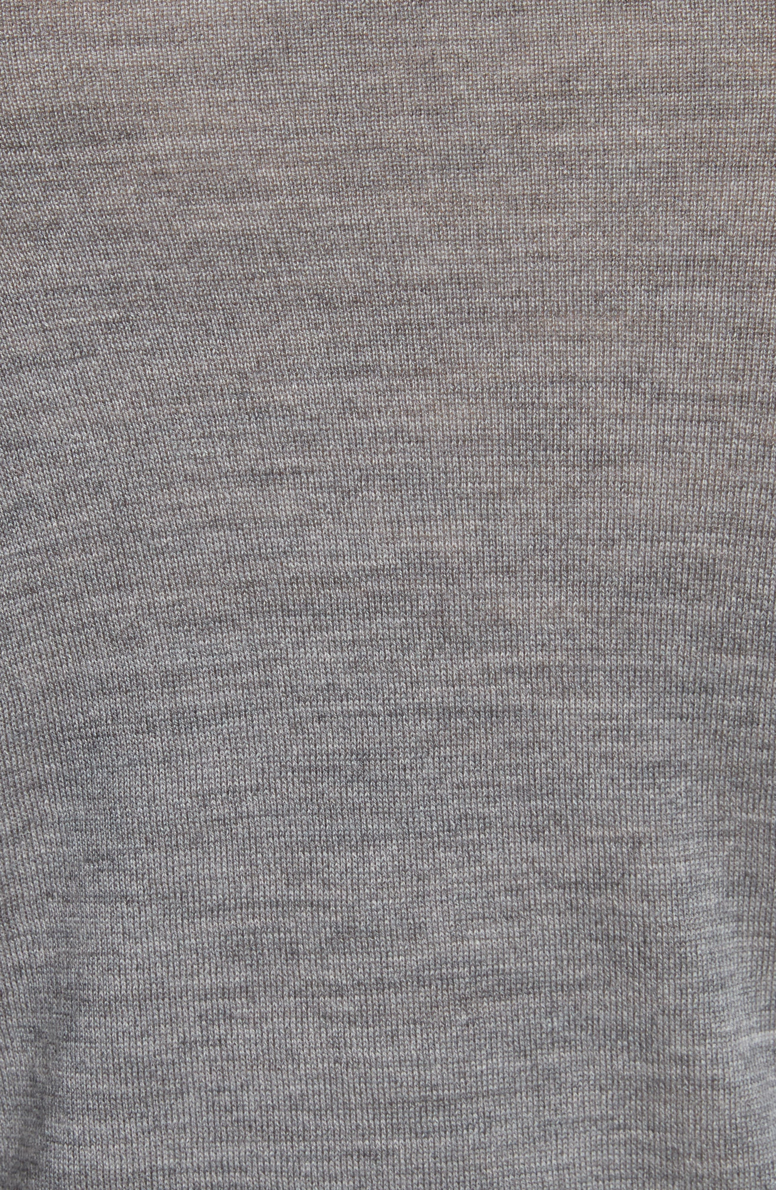 Wash & Go Cold Shoulder Merino Wool Sweater,                             Alternate thumbnail 5, color,                             Heather Grey