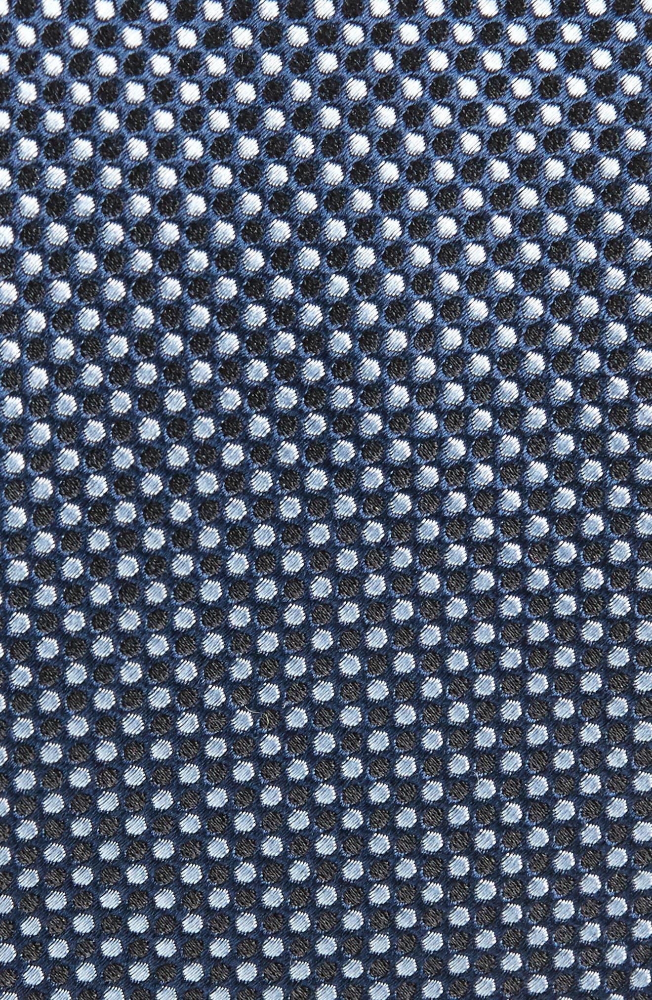 Geometric Neat Silk Tie,                             Alternate thumbnail 2, color,                             Navy