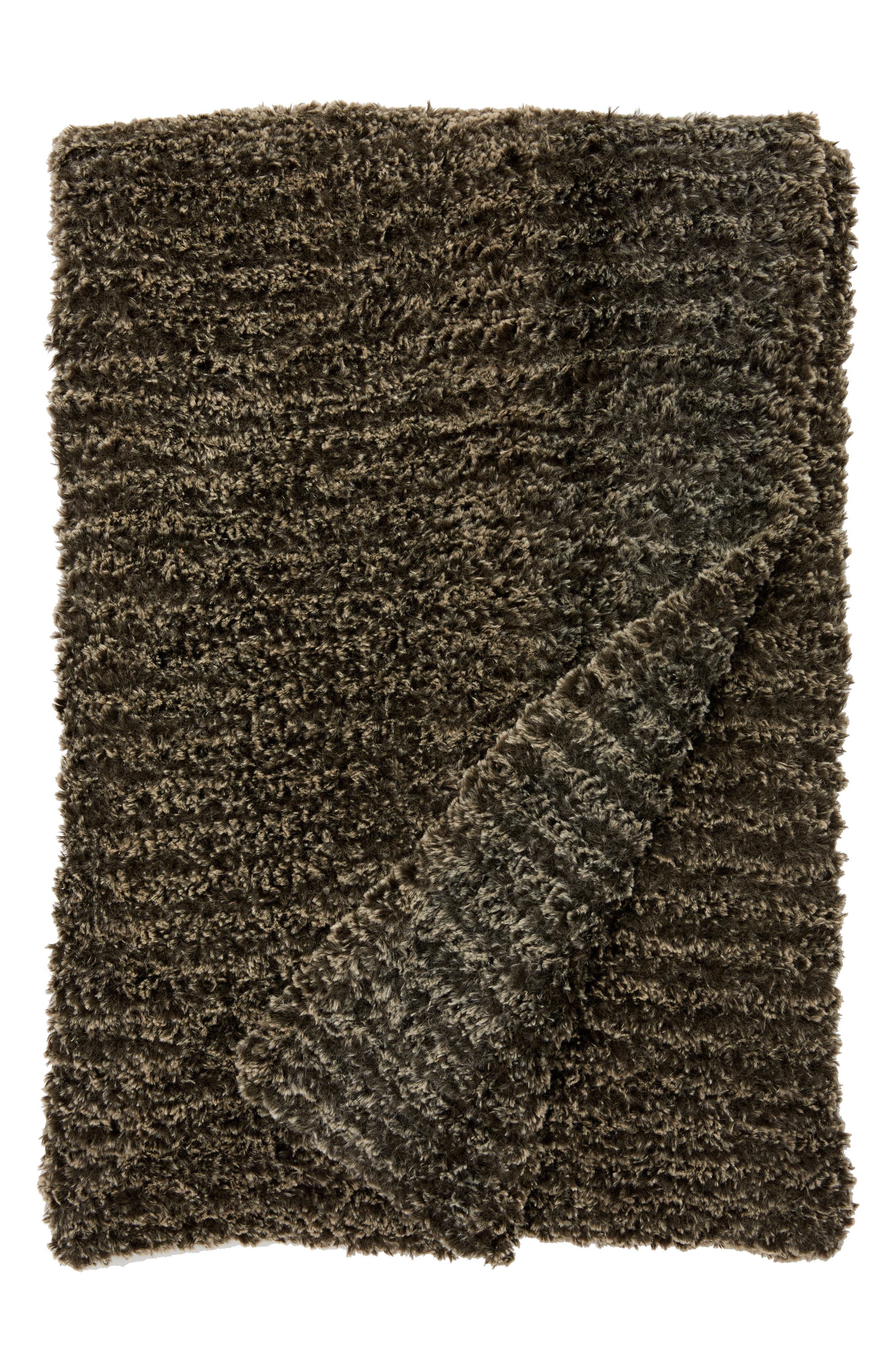 Luxe<sup>™</sup> Knit Throw Blanket,                             Main thumbnail 1, color,                             Espresso