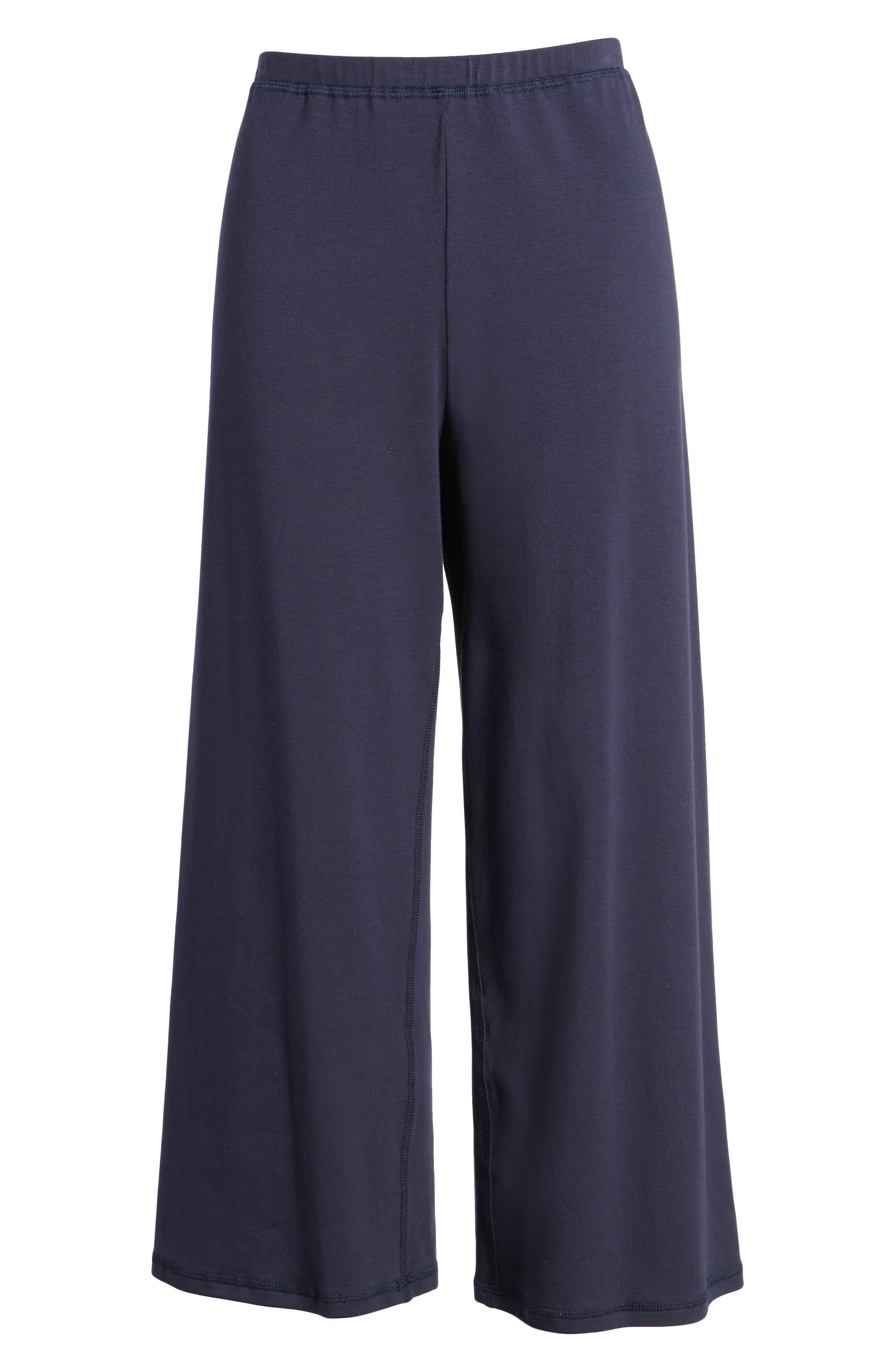 Stretch Organic Cotton Crop Pants,                             Alternate thumbnail 7, color,                             Midnight