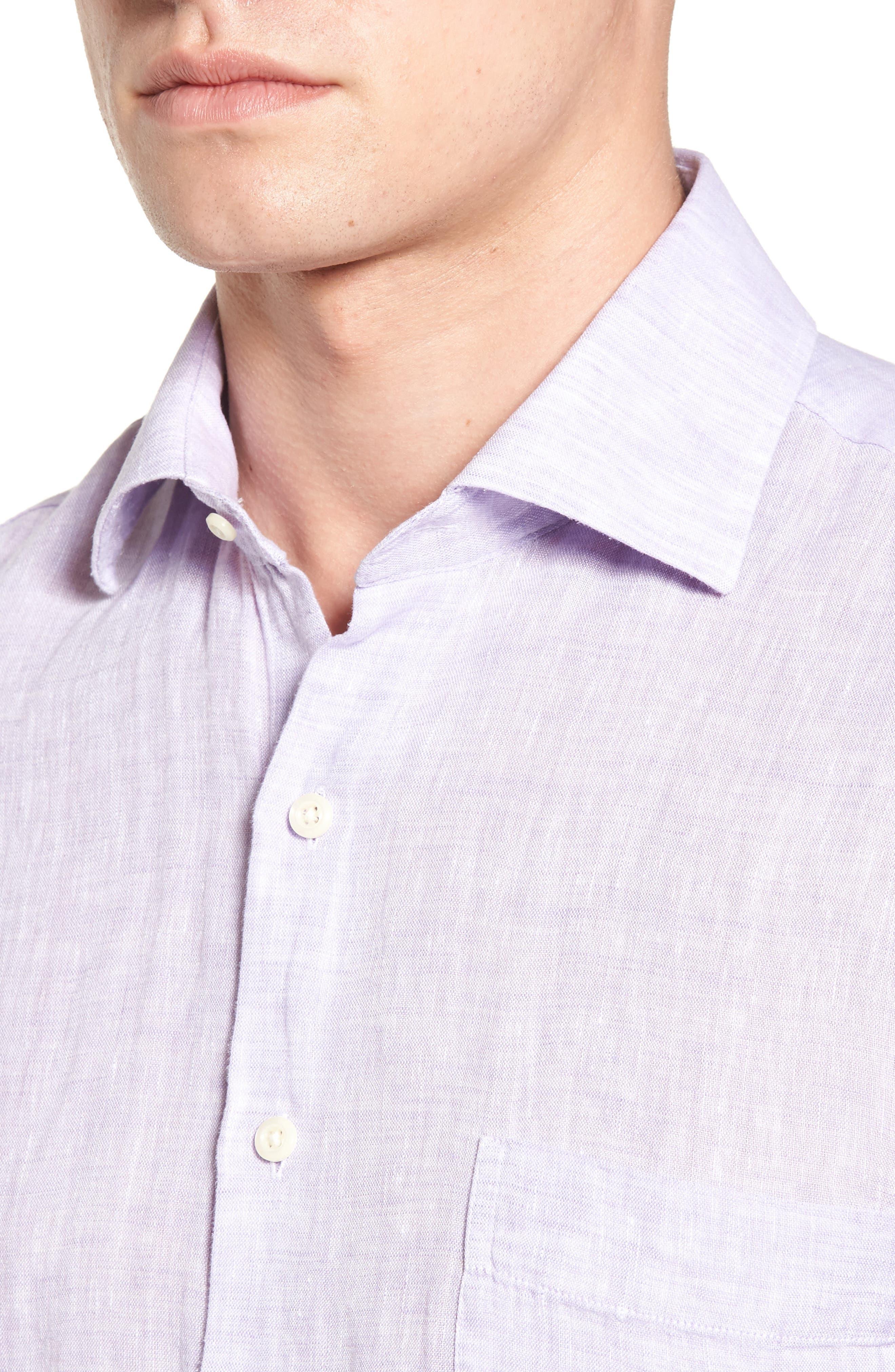 Alternate Image 4  - Peter Millar Classic Fit Crown Cool Linen Sport Shirt