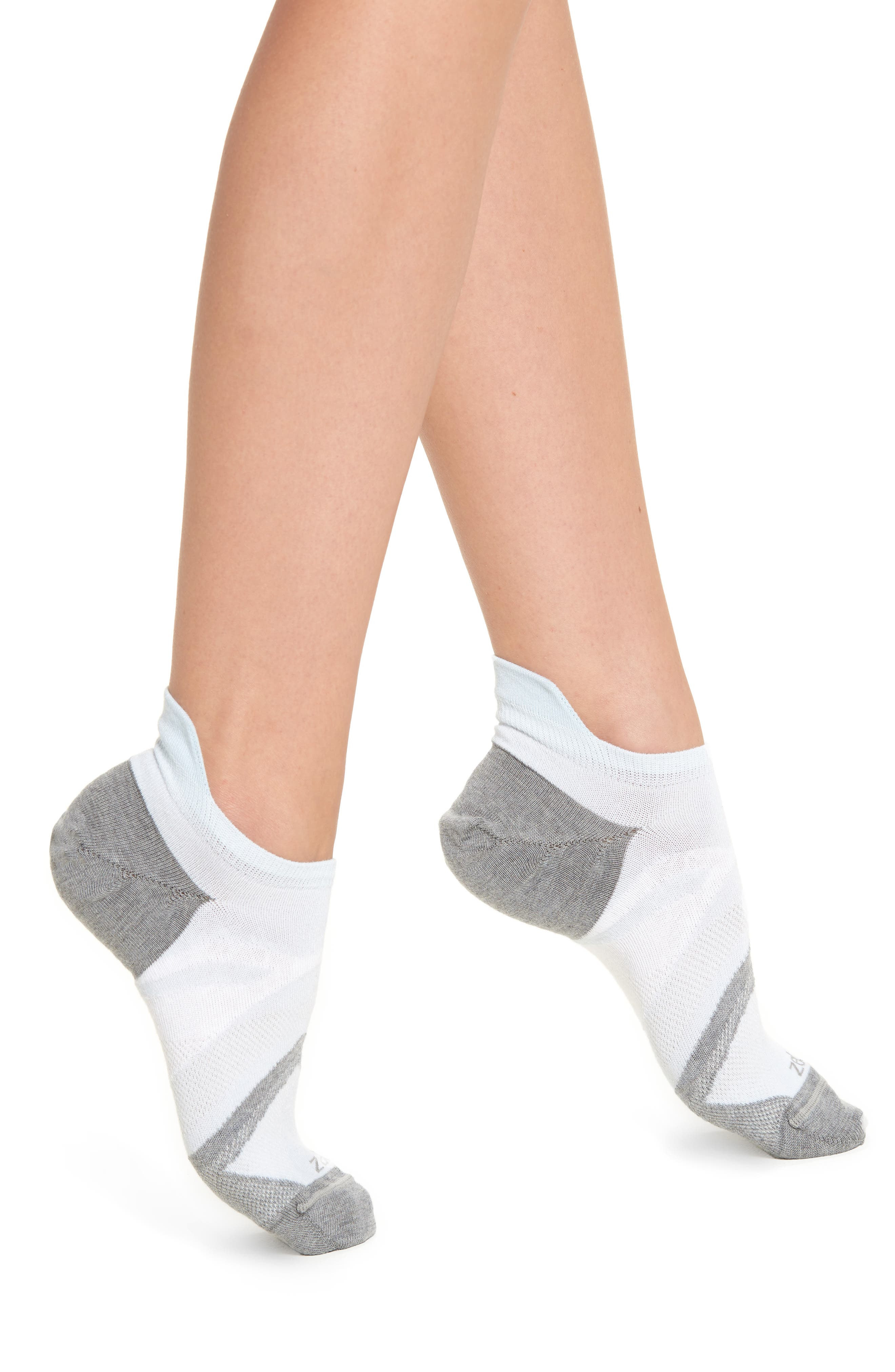 Tab Back Socks,                             Main thumbnail 1, color,                             Blue Omphalode