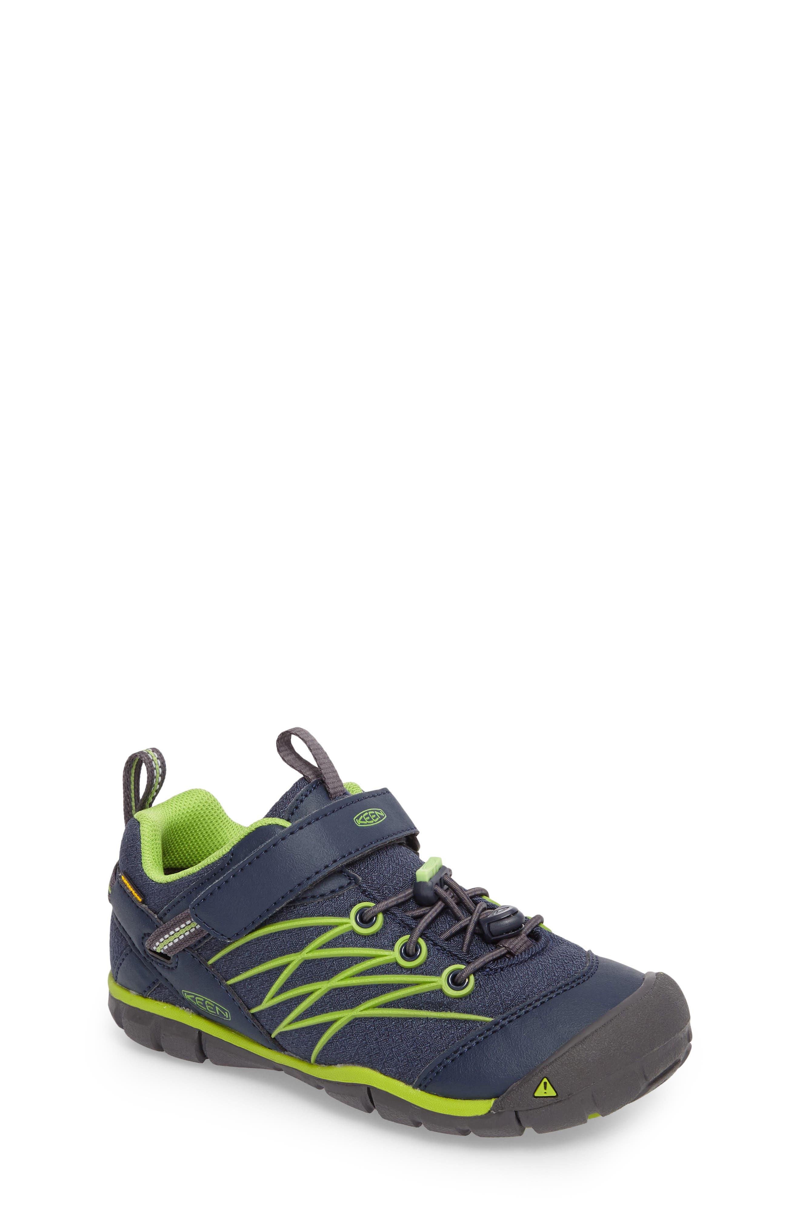Chandler CNX Waterproof Sneaker,                             Main thumbnail 1, color,                             Dress Blues/ Greenery