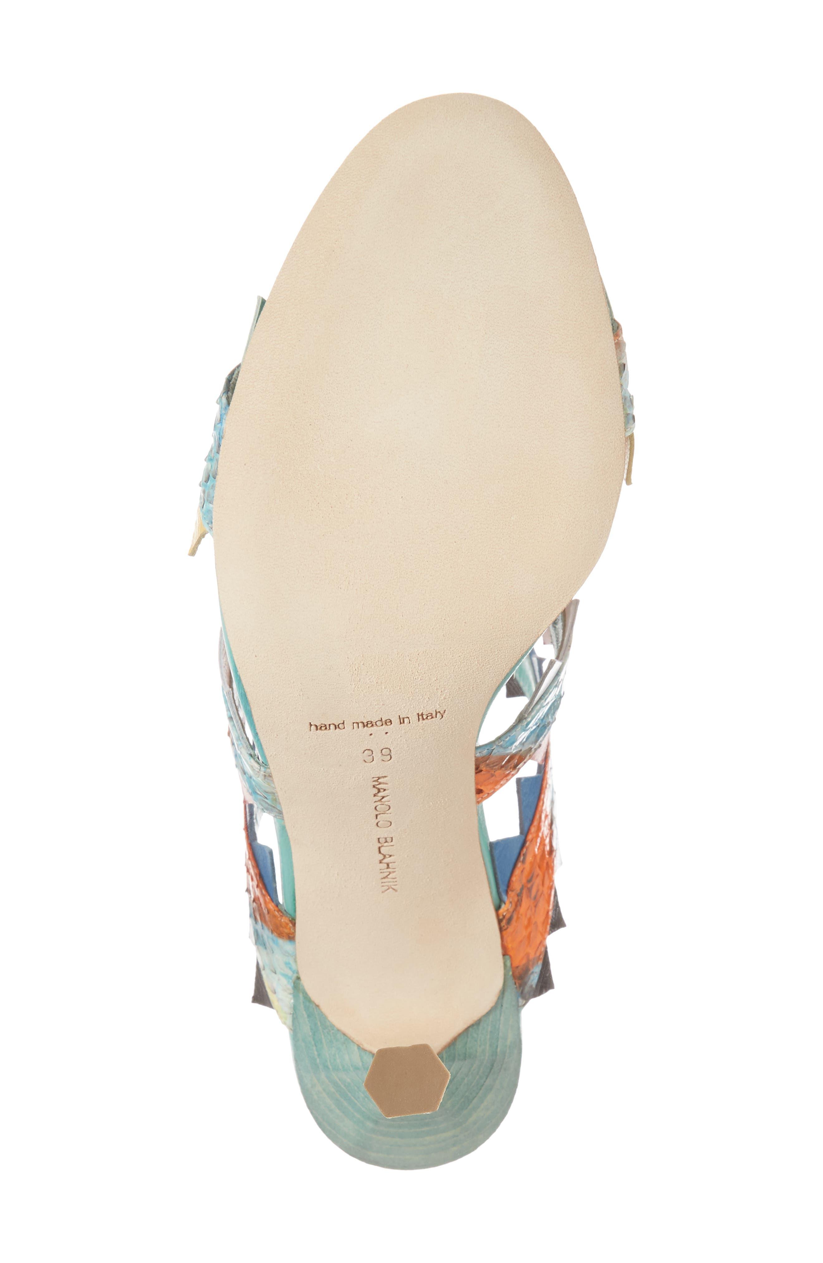 Arpege Mule Sandal,                             Alternate thumbnail 6, color,                             Watersnake Multi