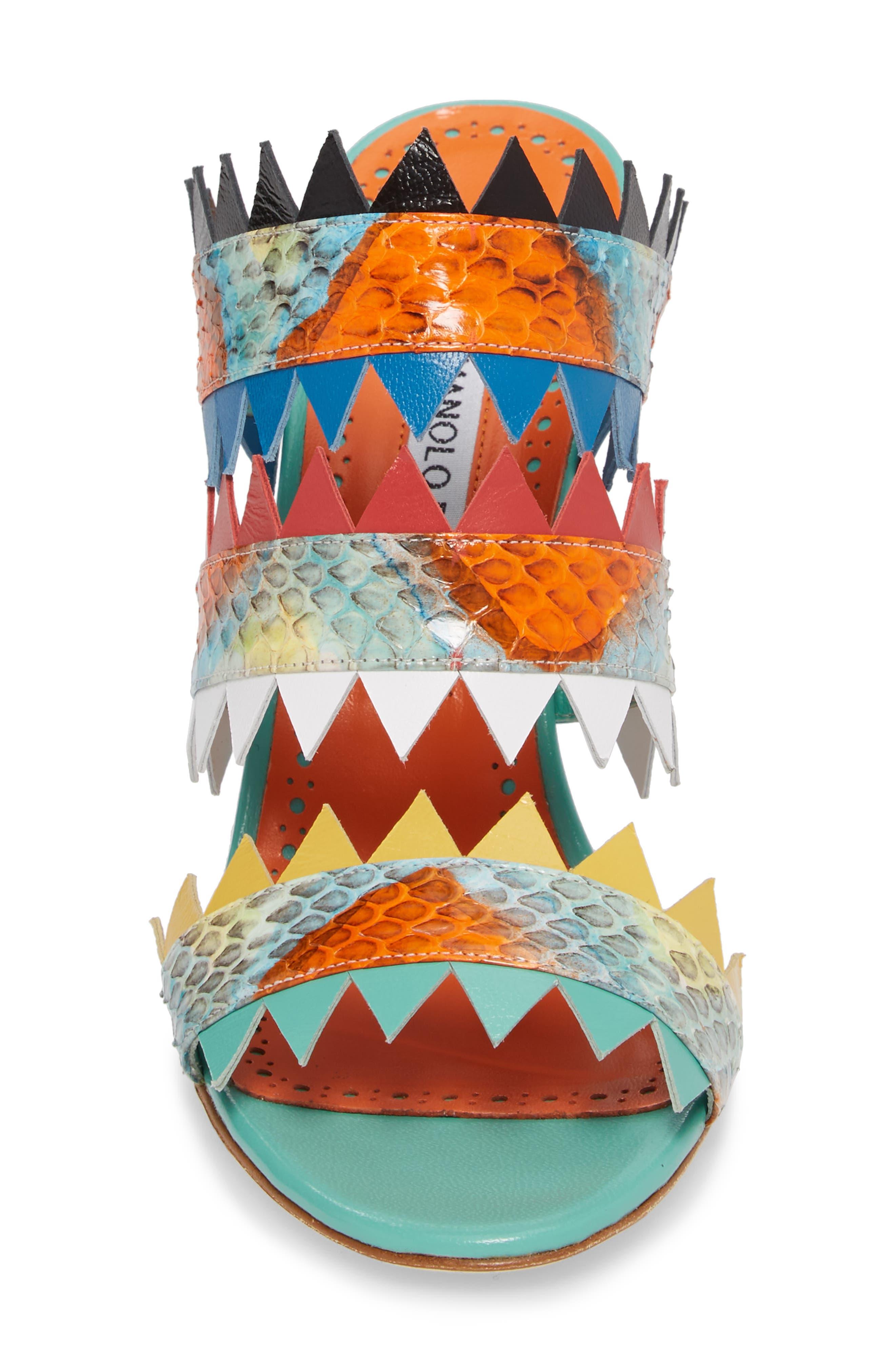 Arpege Mule Sandal,                             Alternate thumbnail 4, color,                             Watersnake Multi