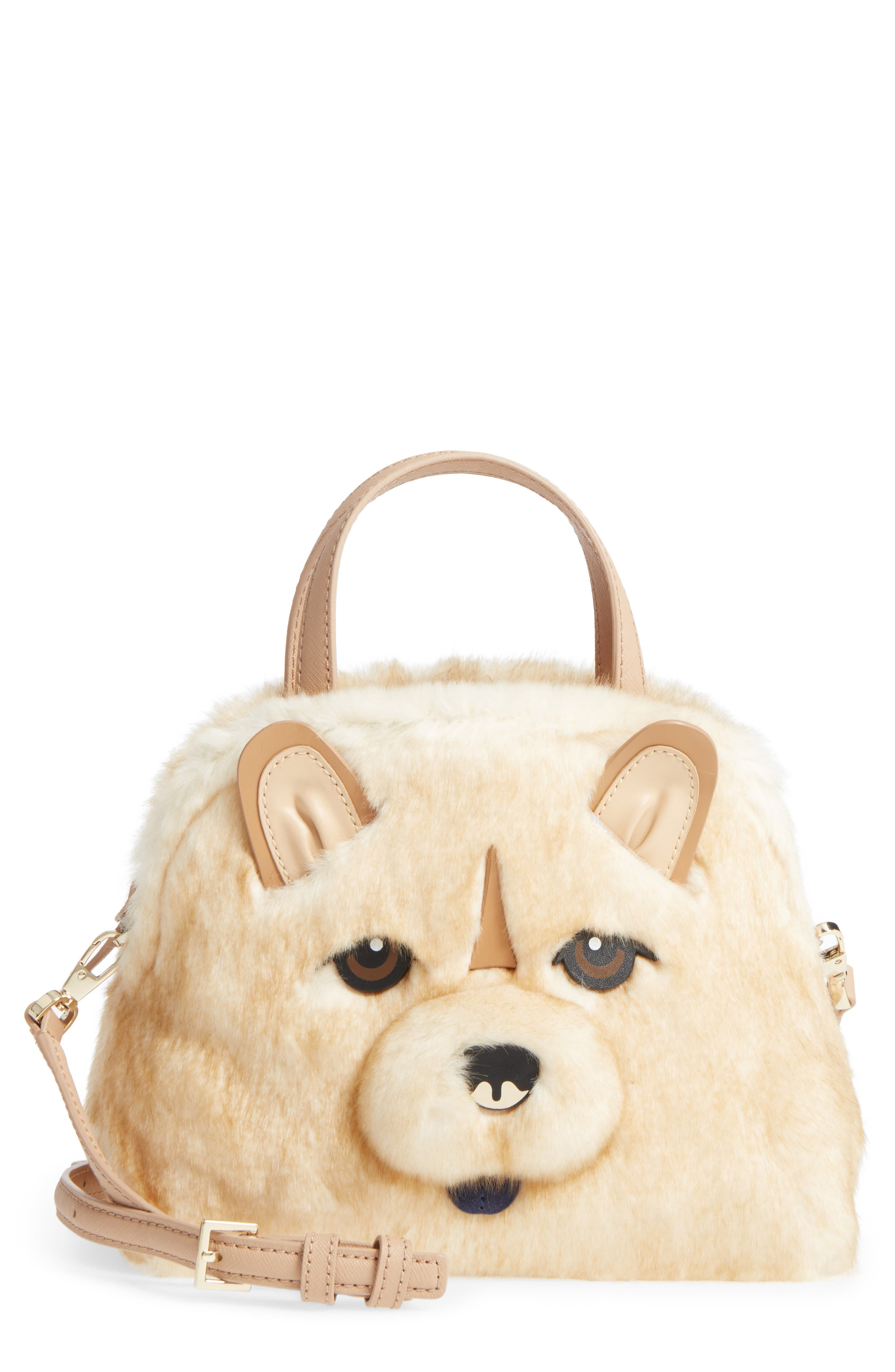 Kate Spade Leathers YEAR OF THE DOG CHOW CHOW - LOTTIE SATCHEL - BEIGE