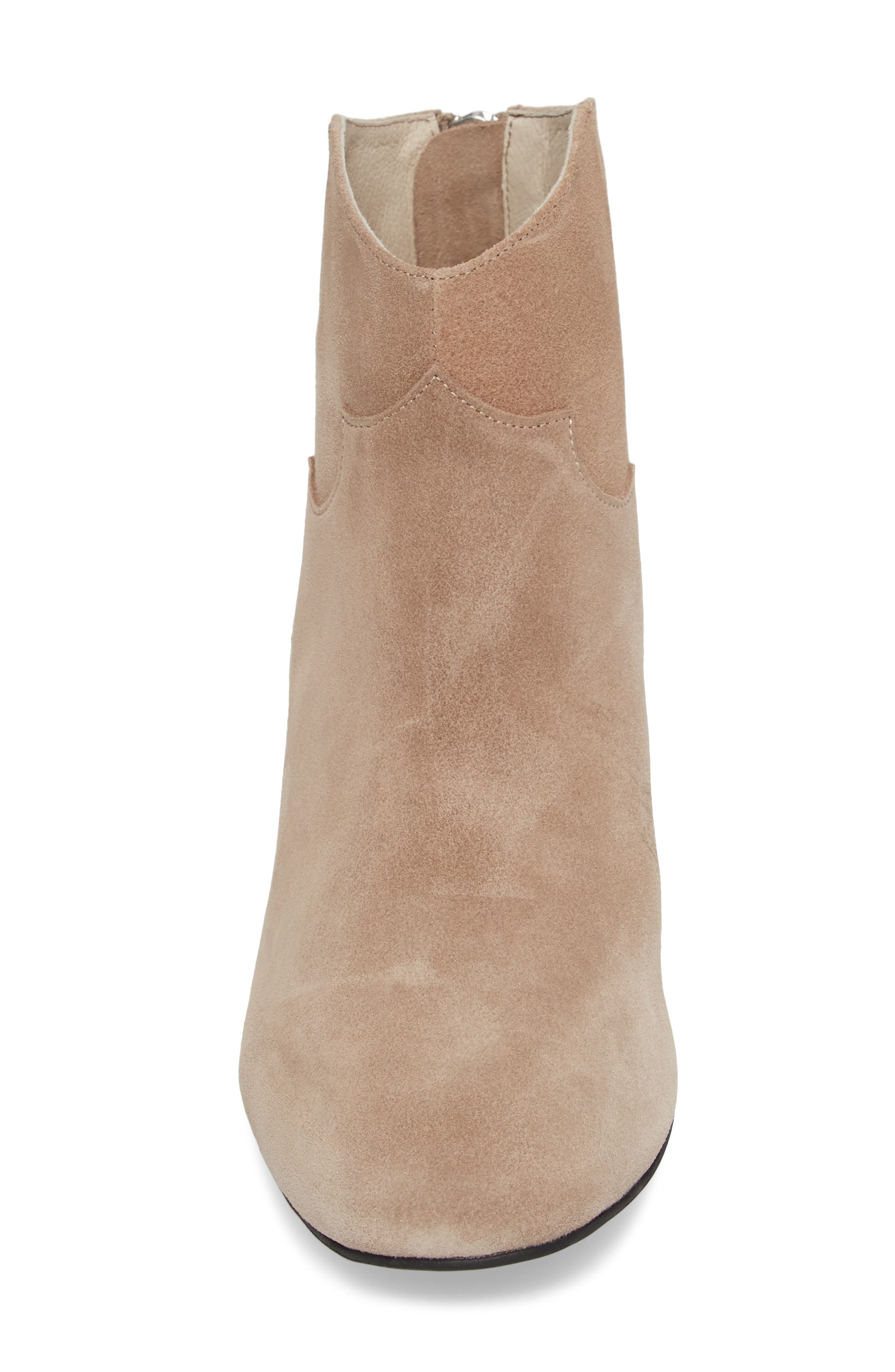 Texan Arched Bootie,                             Alternate thumbnail 4, color,                             Desert Suede