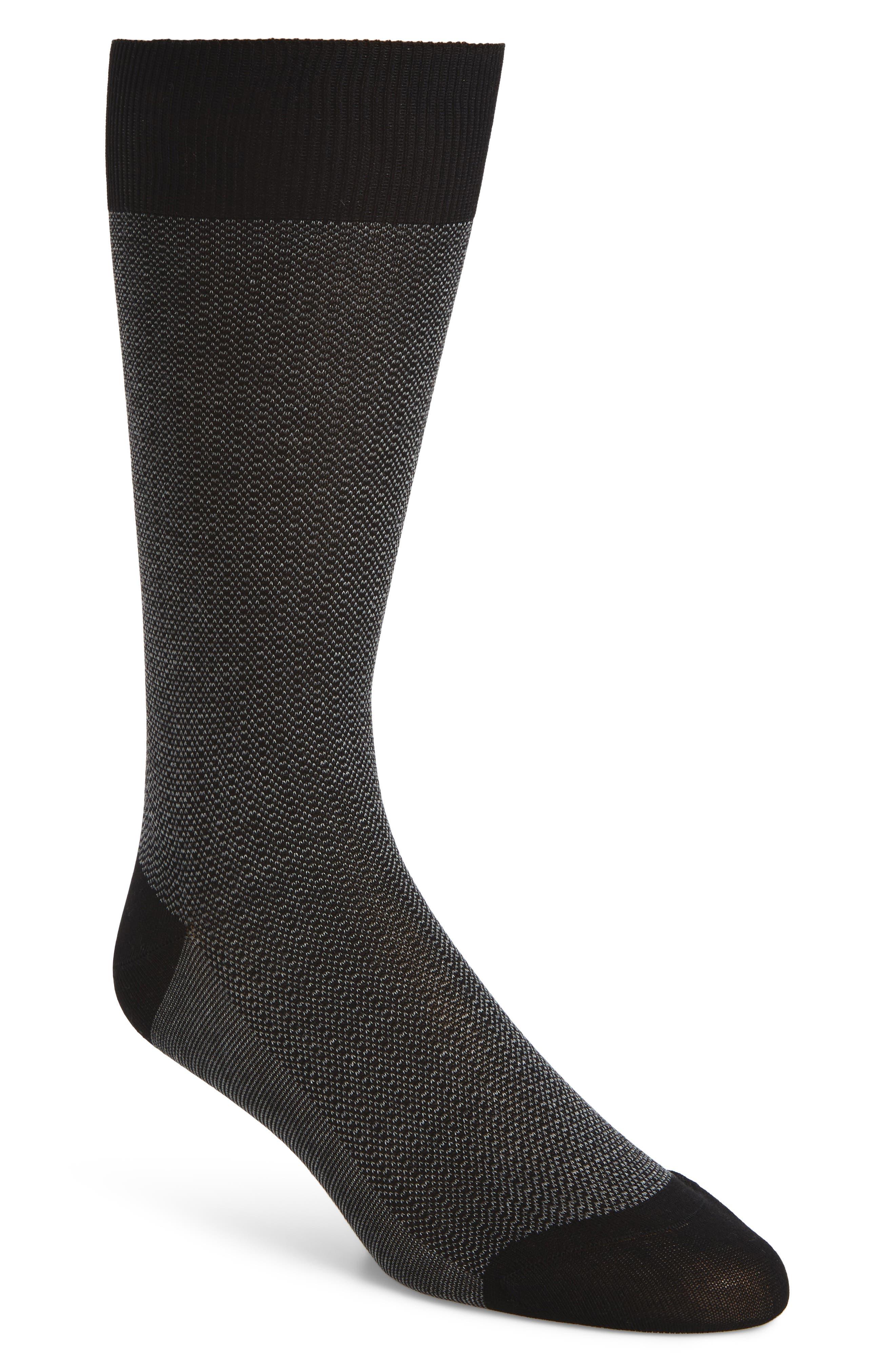 Pantherella Birdseye Stripe Socks