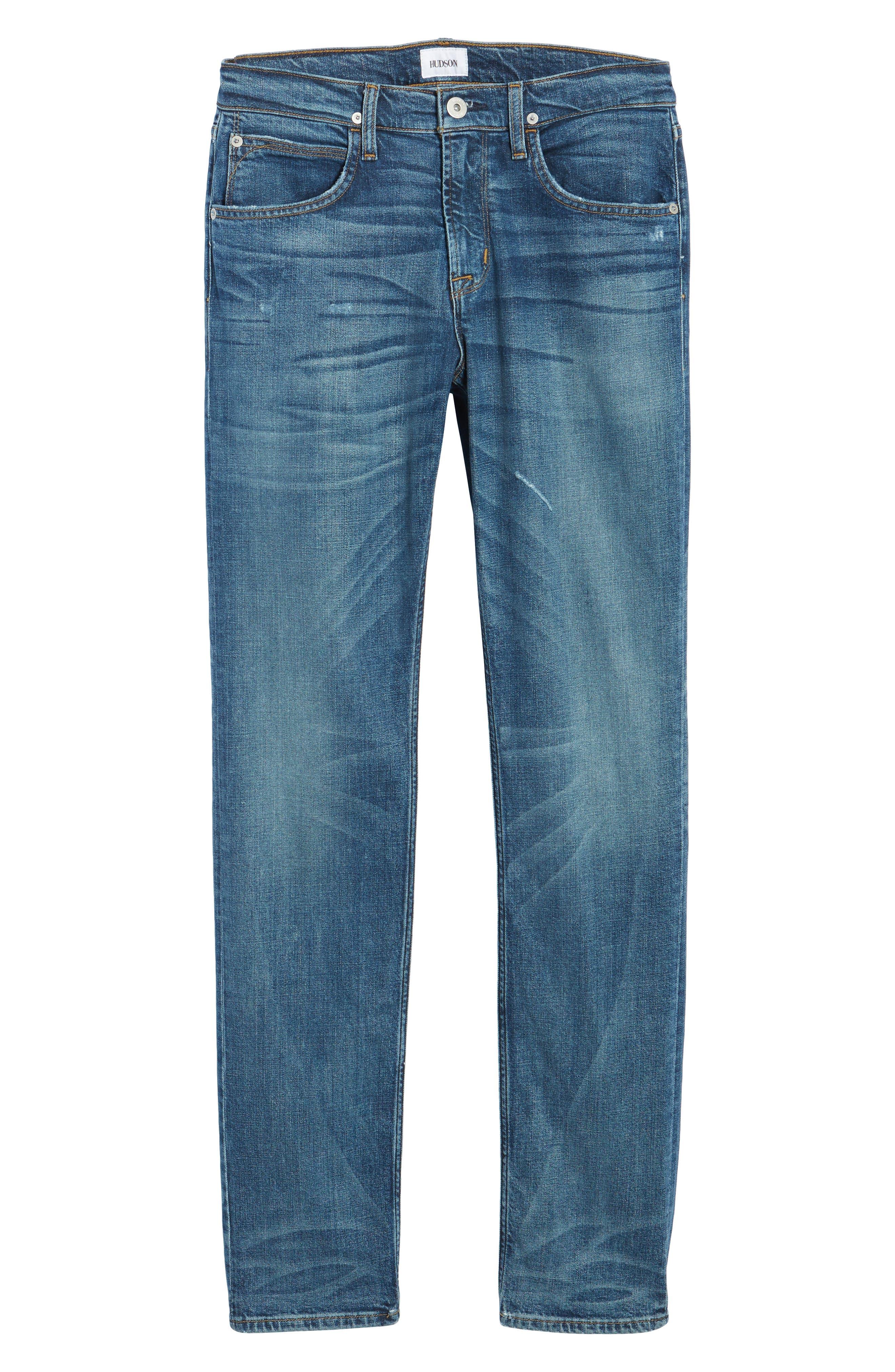 Alternate Image 6  - Hudson Jeans Byron Slim Straight Leg Jeans (Graph)