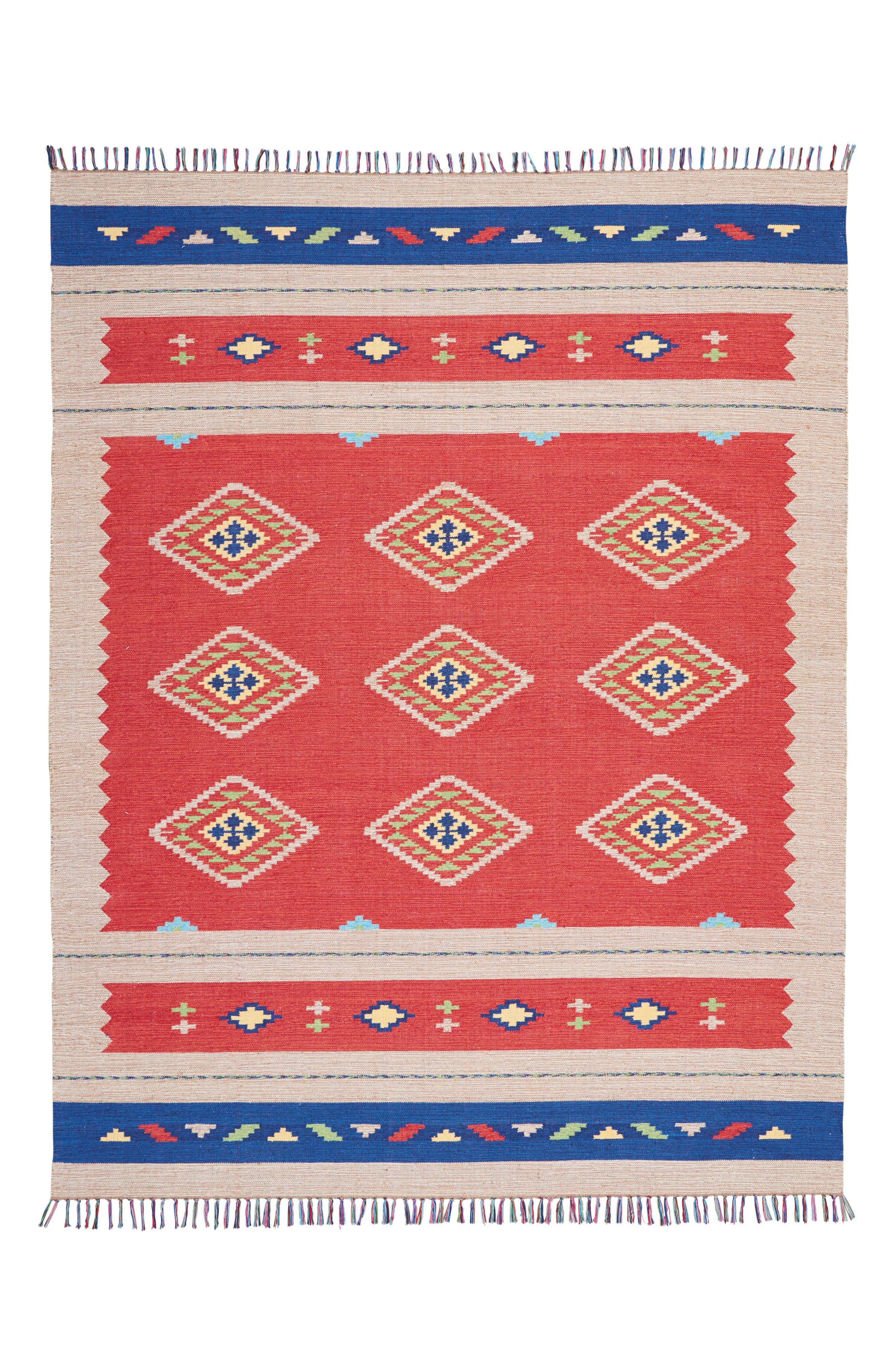 Loreto Rug,                         Main,                         color, Red/ Beige