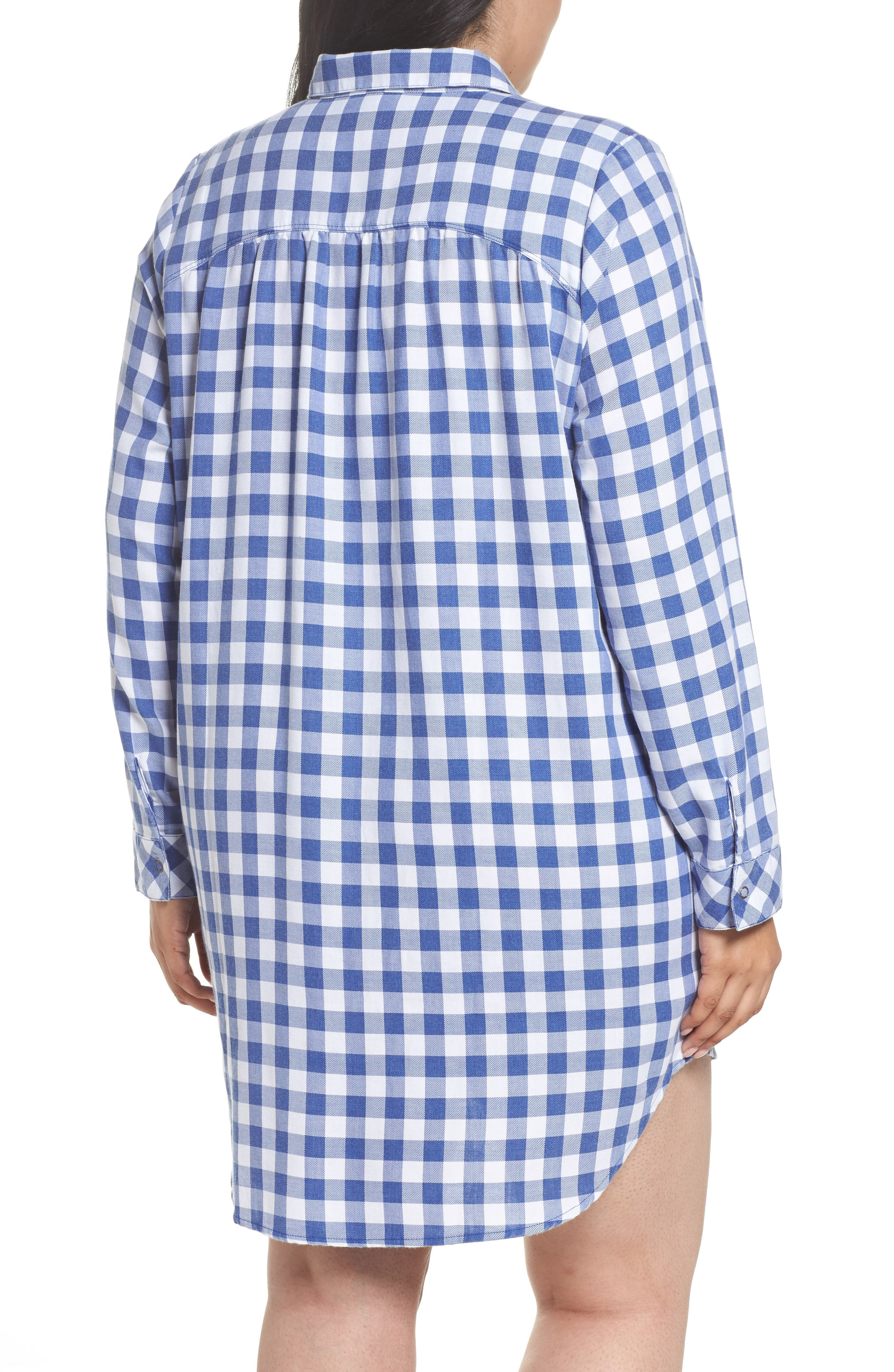 Alternate Image 2  - Make + Model Plaid Night Shirt (Plus Size)