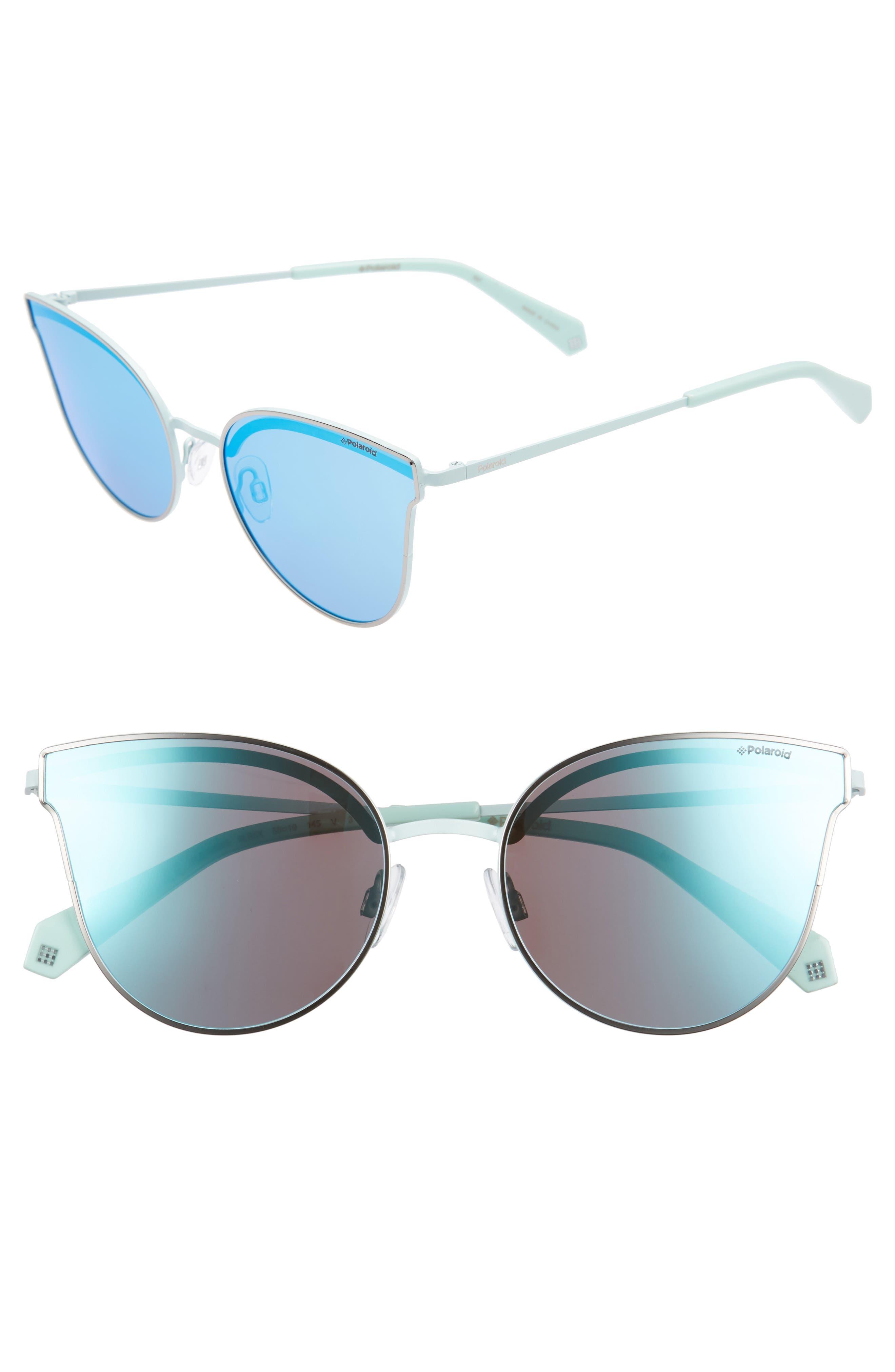 Polaroid 58mm Polarized Butterfly Sunglasses