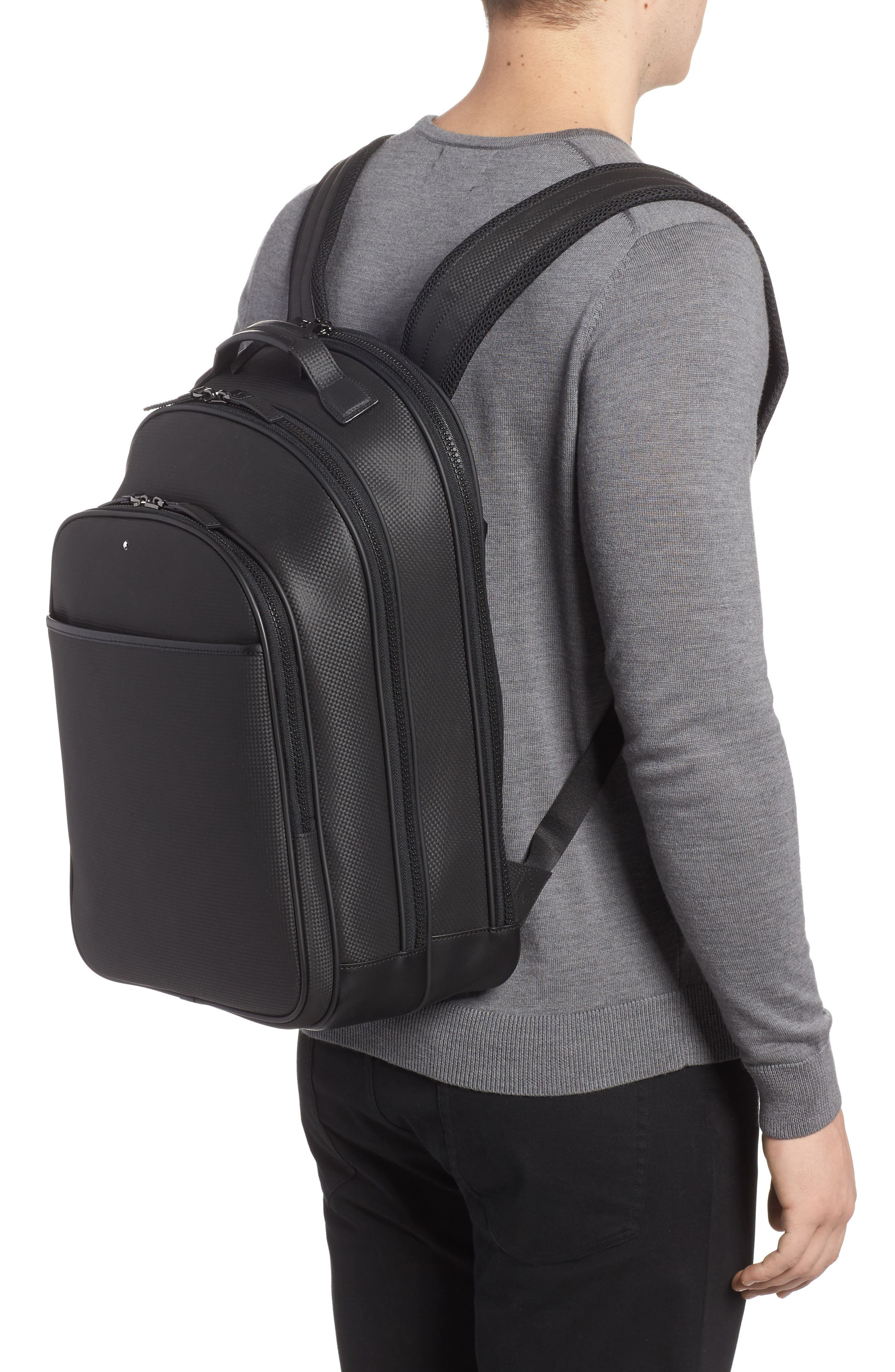 Extreme Leather Backpack,                             Alternate thumbnail 2, color,                             Black